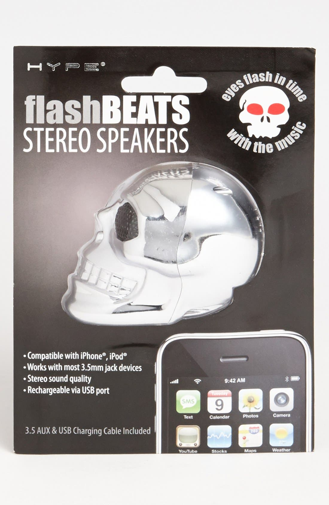 Alternate Image 1 Selected - Hype 'Flash Beats' Skull Speaker