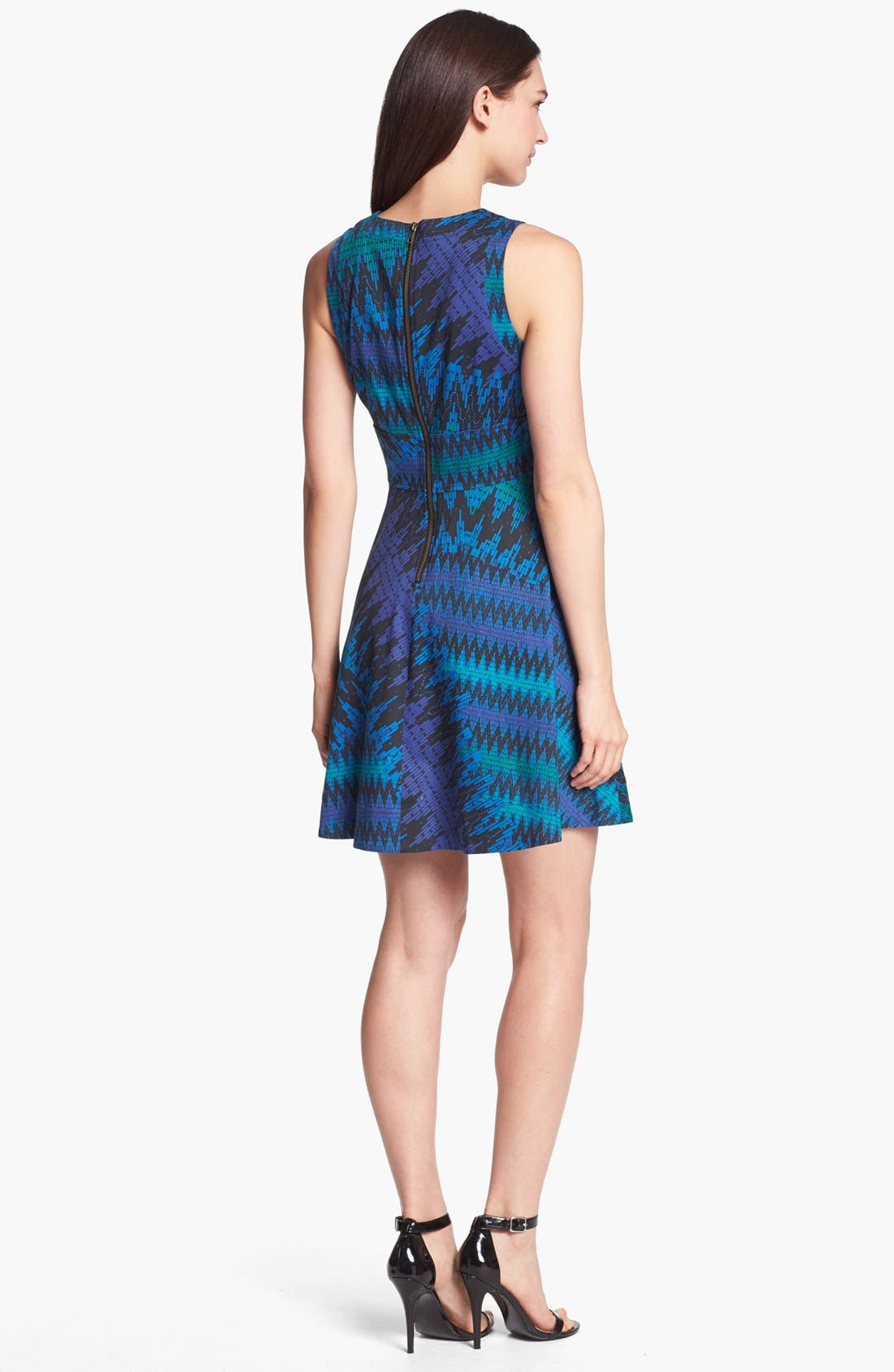 Alternate Image 2  - French Connection Zigzag Print Fit & Flare Dress
