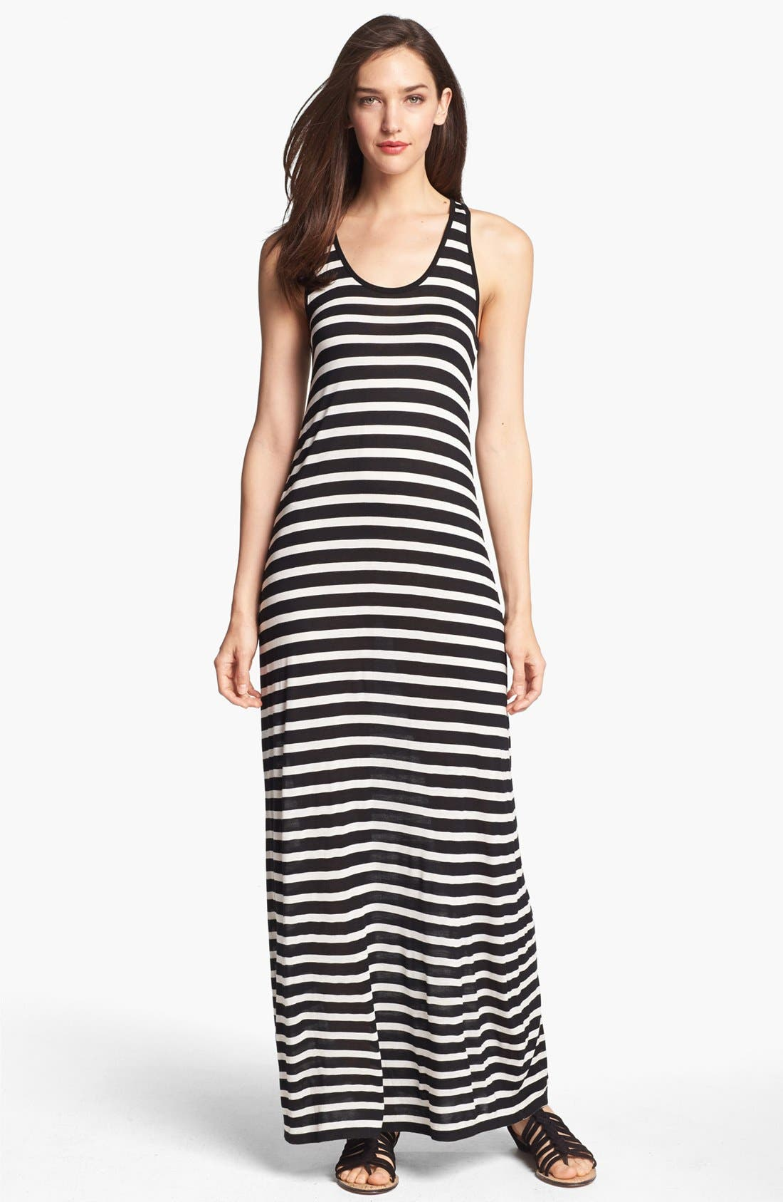Main Image - Two by Vince Camuto Stripe Racerback Maxi Dress
