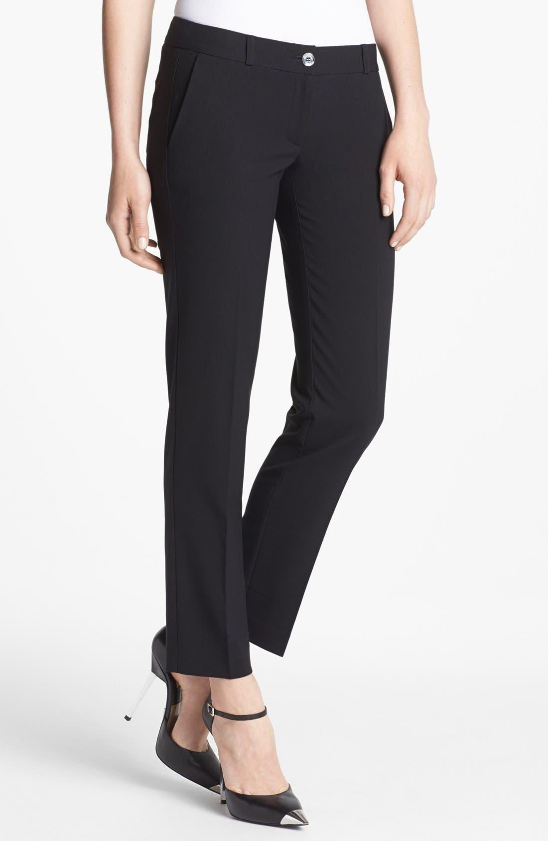 Main Image - MICHAEL Michael Kors 'Miranda' Stretch Ankle Pants (Regular & Petite)