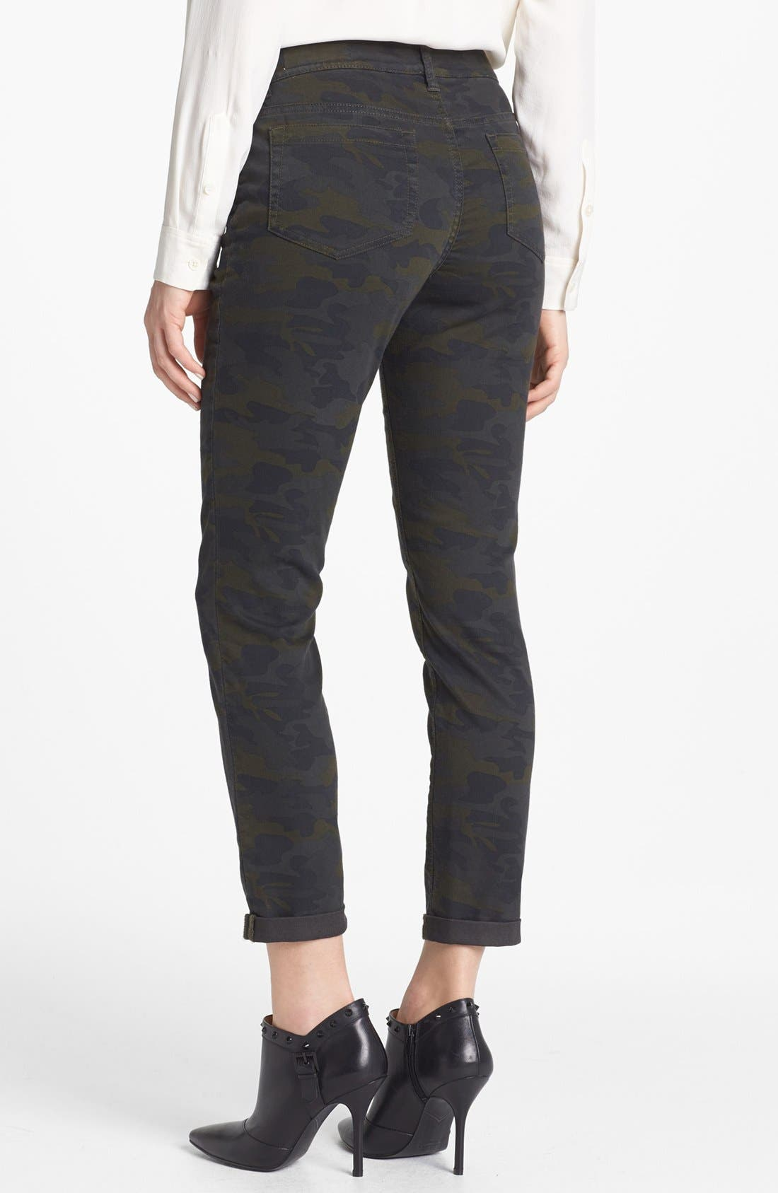 Alternate Image 2  - Two by Vince Camuto Camo Cuff Jeans (Dark Leaf)