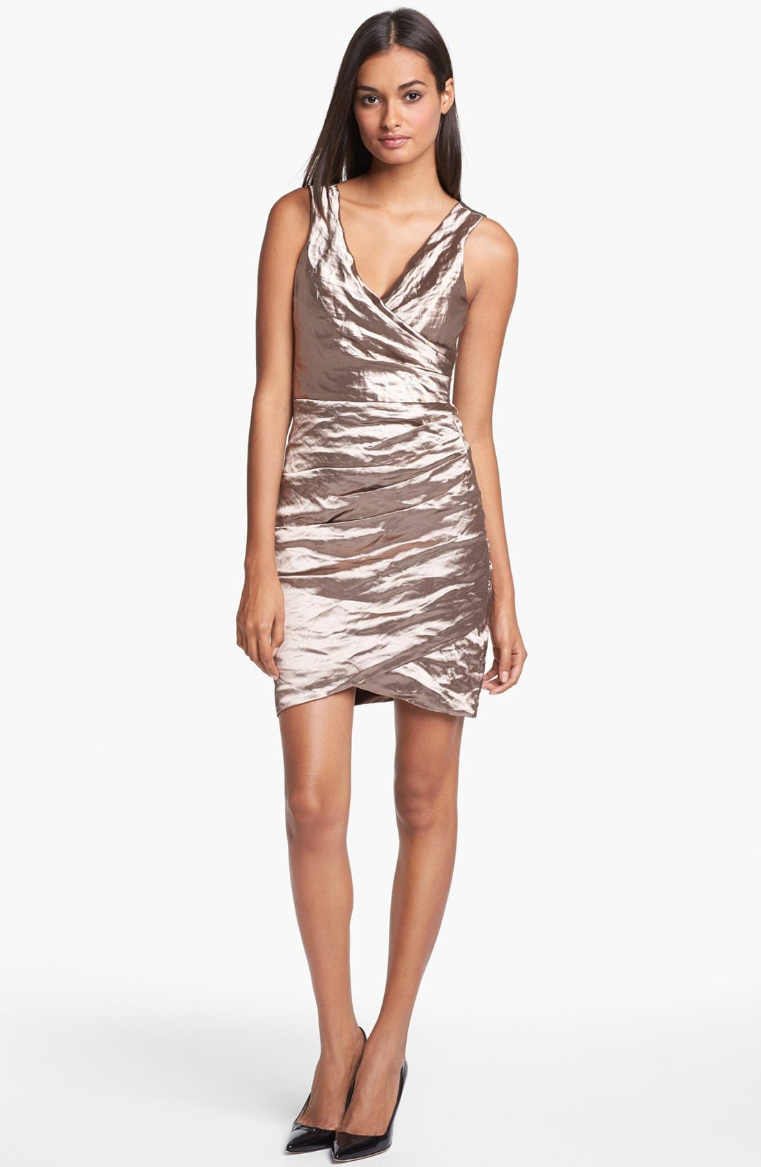 Alternate Image 1 Selected - Nicole Miller Techno Metal Dress