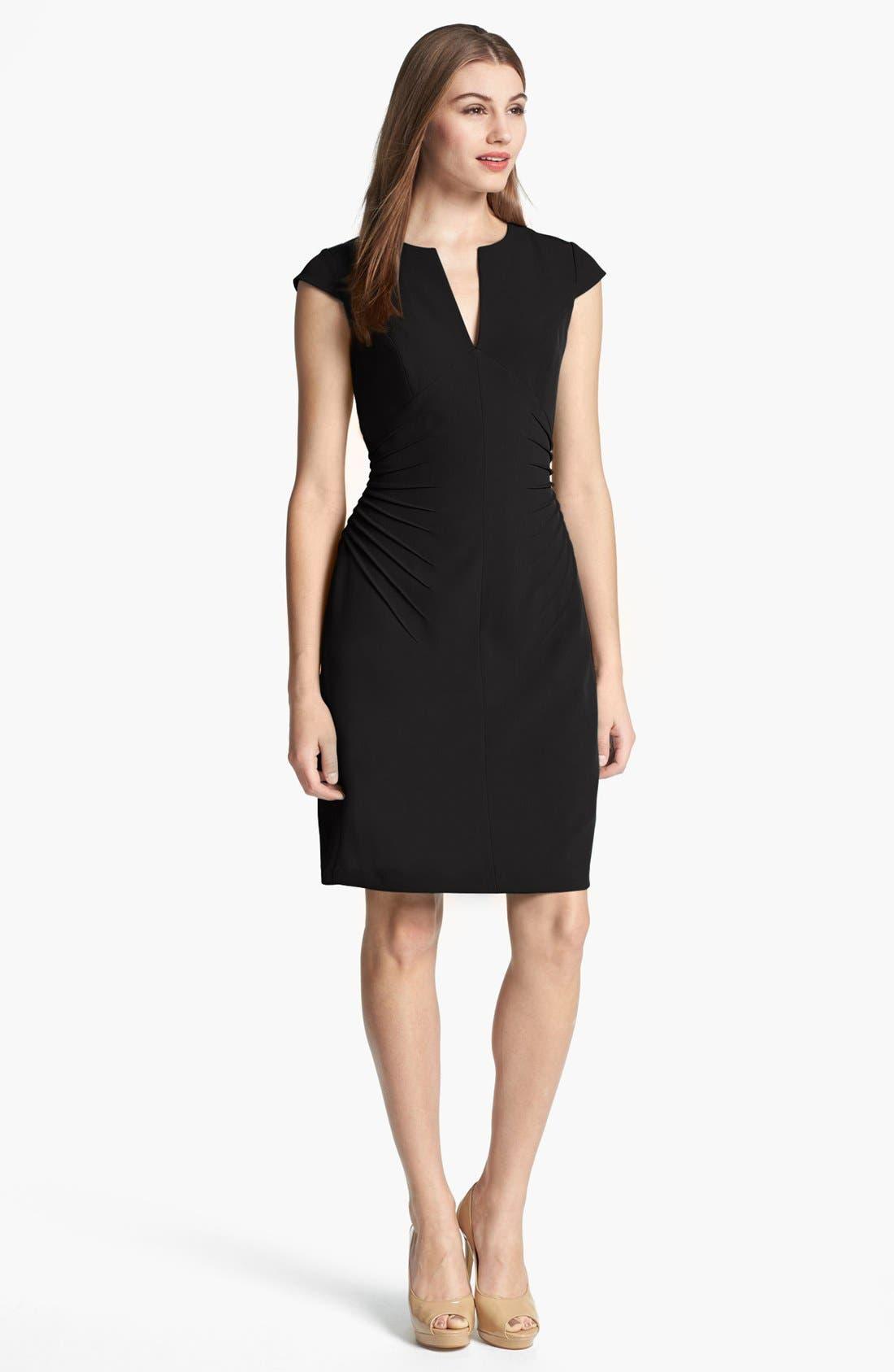 Alternate Image 1 Selected - Adrianna Papell Side Tucked Sheath Dress