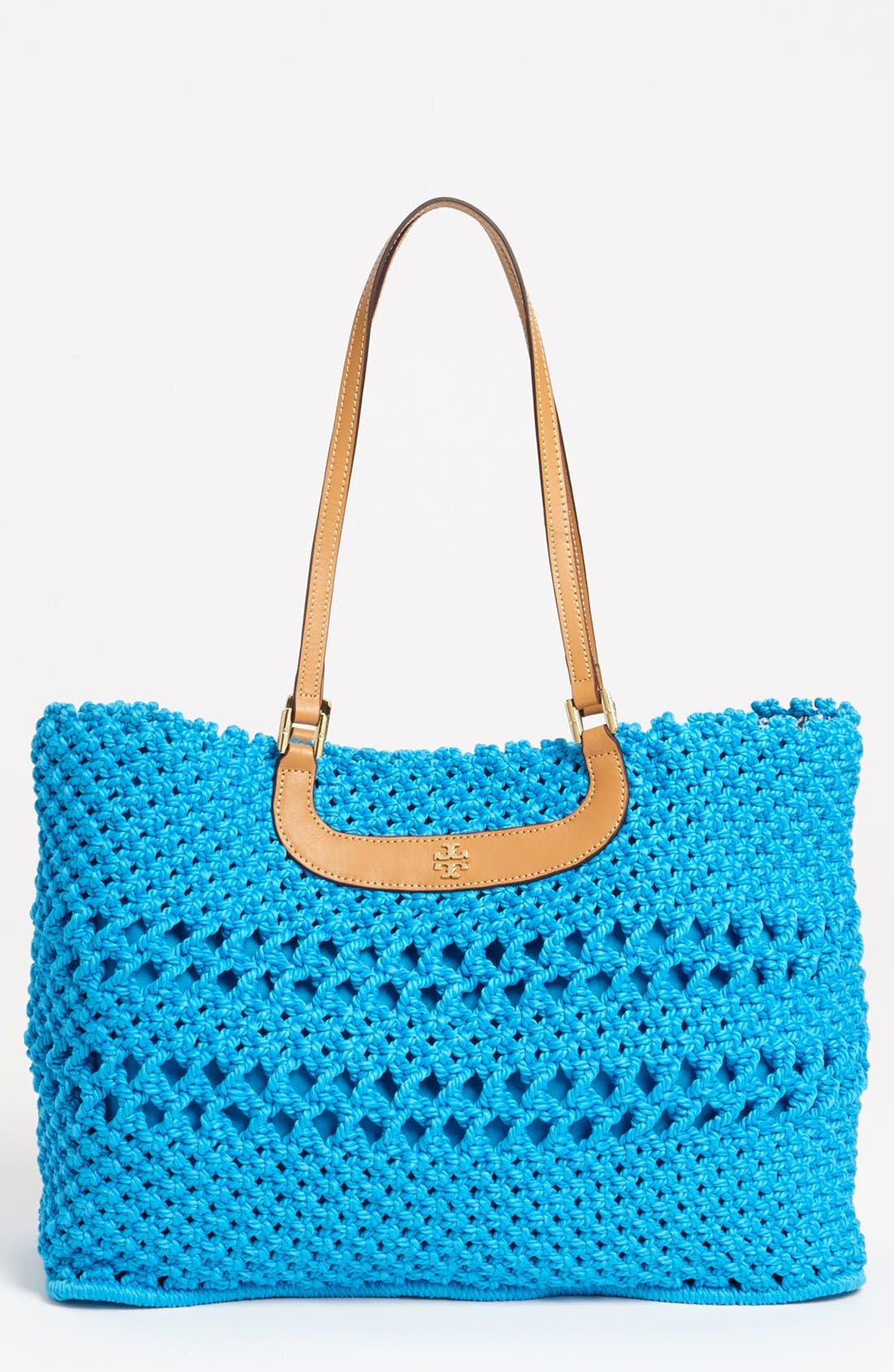 Main Image - Tory Burch 'Dawson - Large' Crocheted Tote