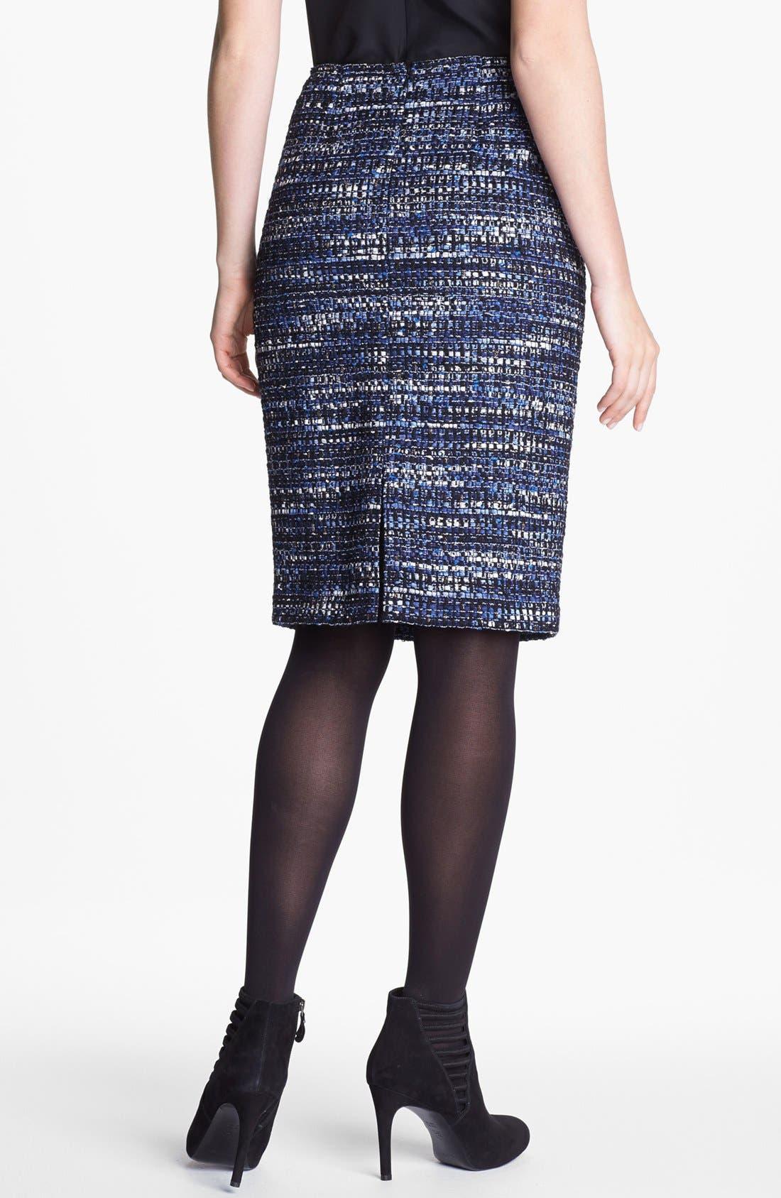 Alternate Image 2  - Lafayette 148 New York Metallic Tweed Skirt