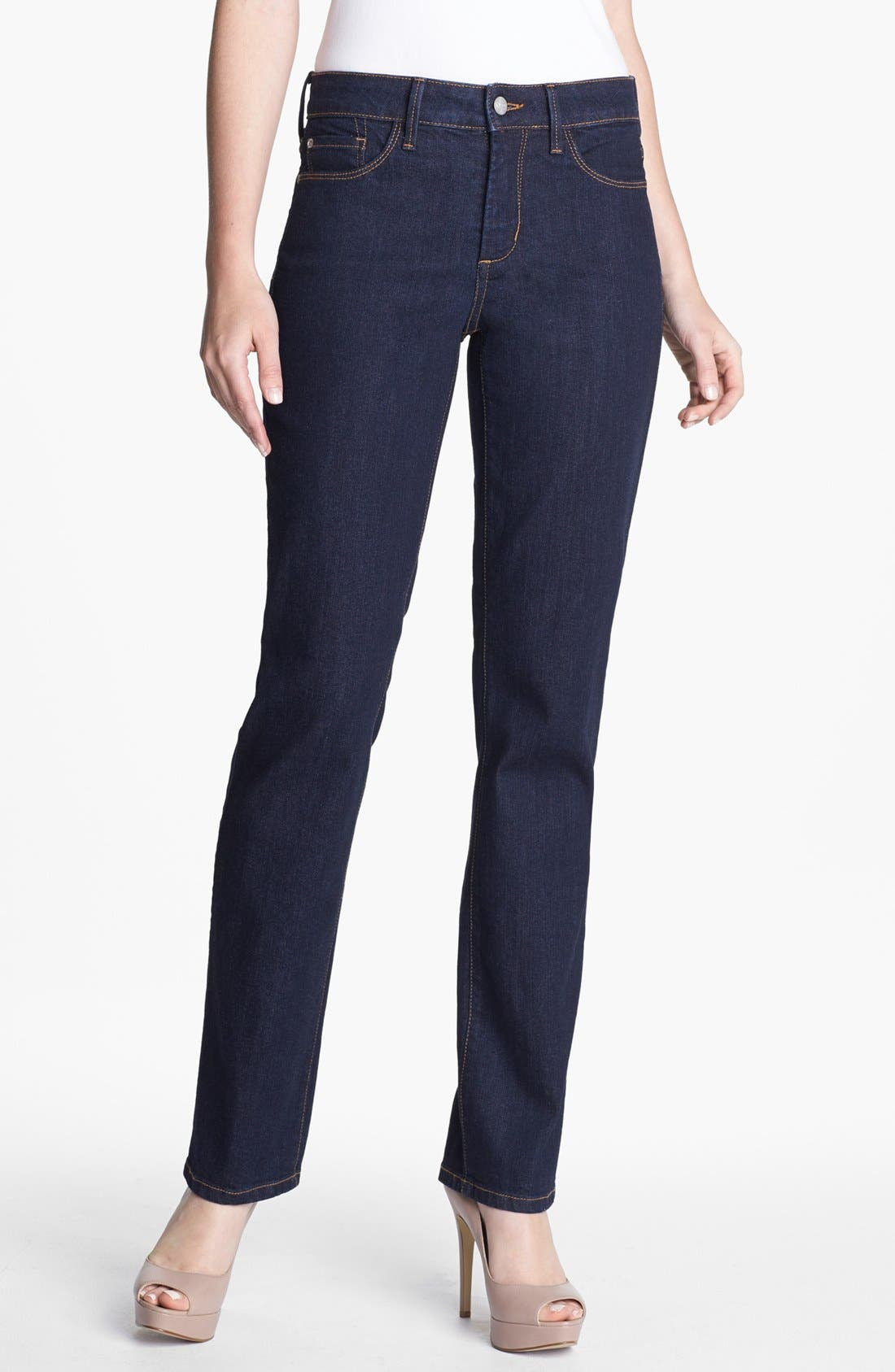 Alternate Image 1 Selected - NYDJ 'Marilyn' Stretch Straight Leg Jeans