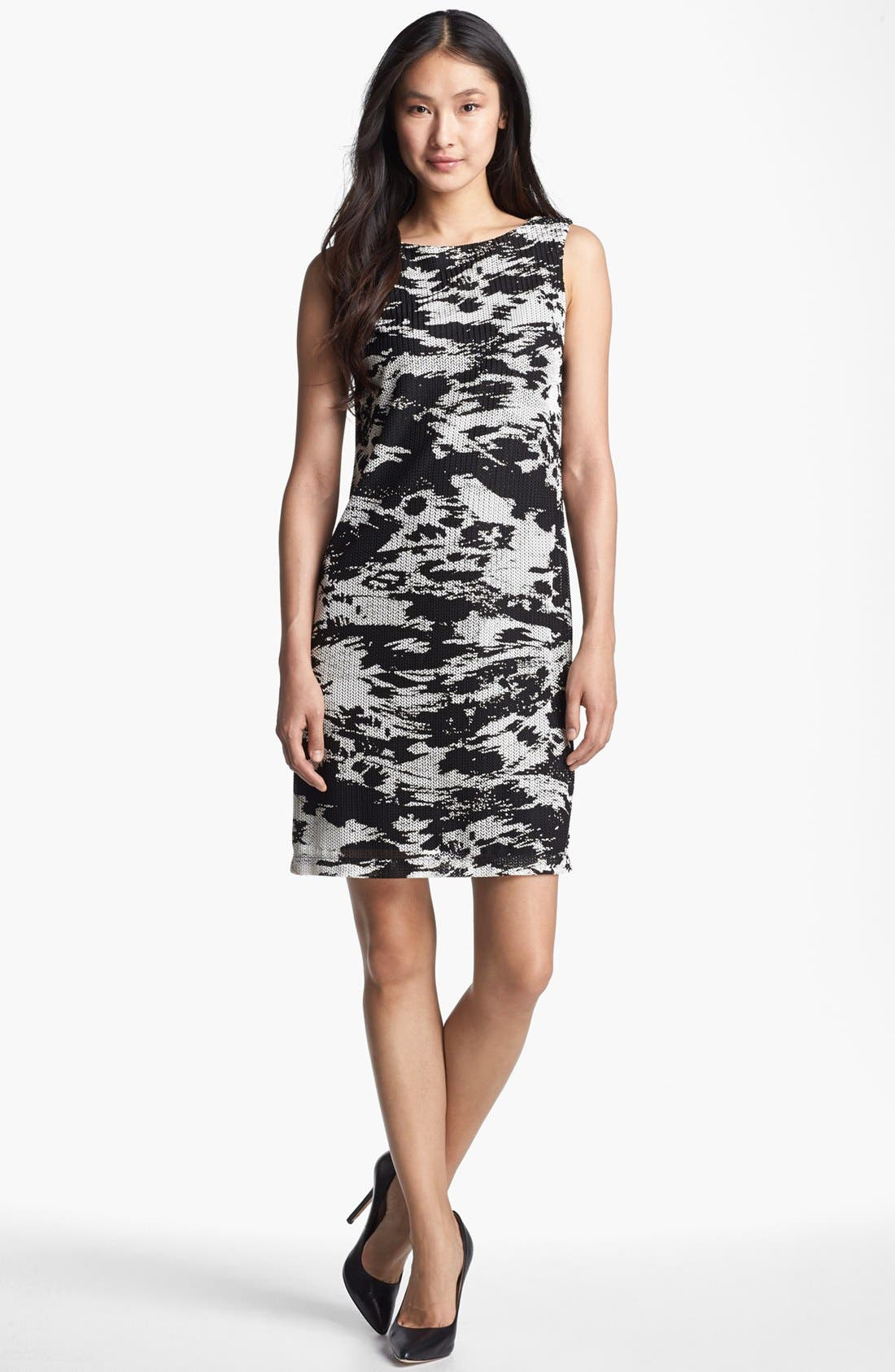 Main Image - Isaac Mizrahi New York Two Tone Sheath Dress