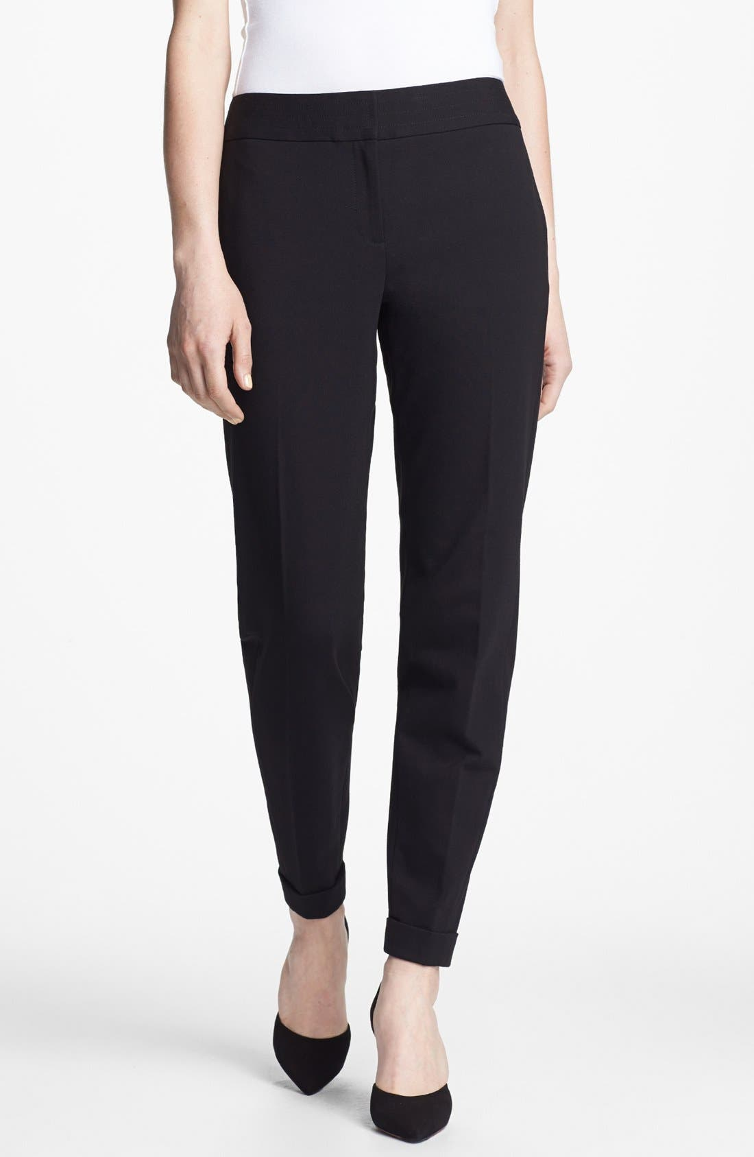 Alternate Image 1 Selected - Ted Baker London 'Stab Stitch' Stretch Tapered Trousers
