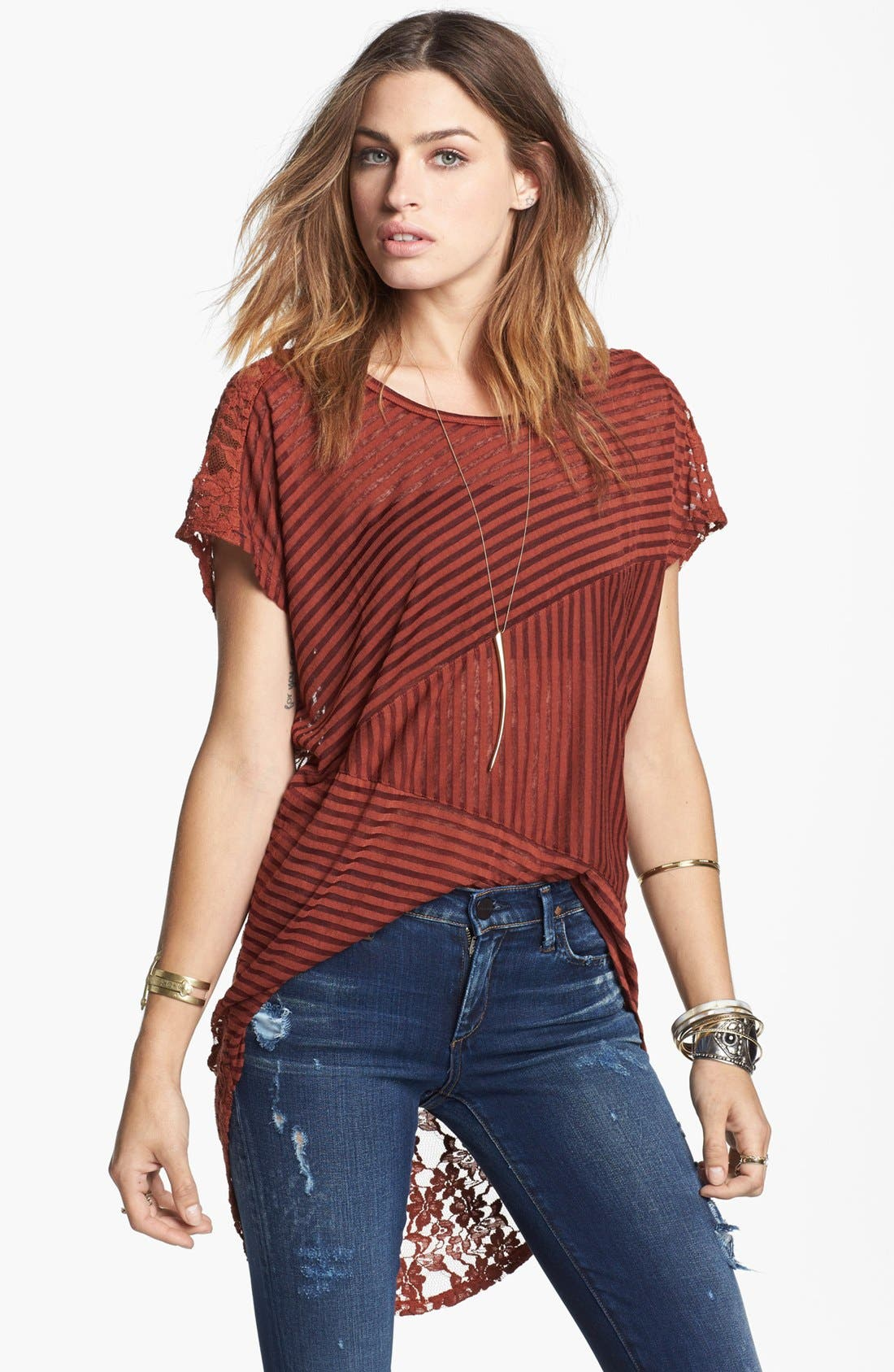 Main Image - Free People 'Day Dream' High/Low Top