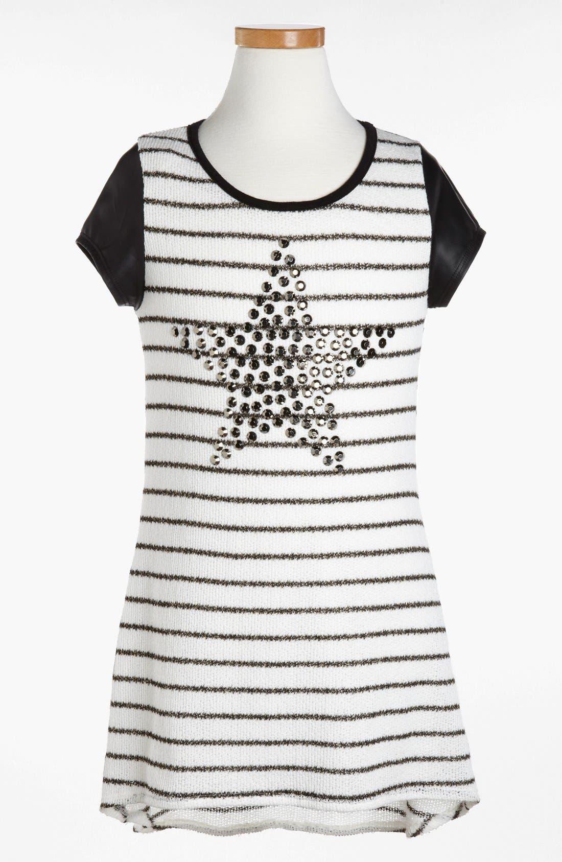 Alternate Image 1 Selected - Kiddo Stripe Studded Star Dress (Little Girls & Big Girls)