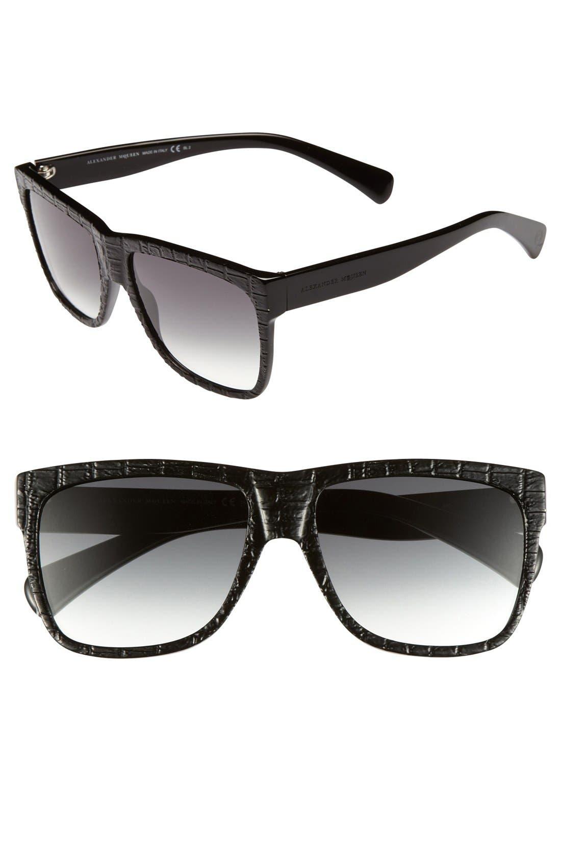Main Image - Alexander McQueen 55mm Retro Sunglasses