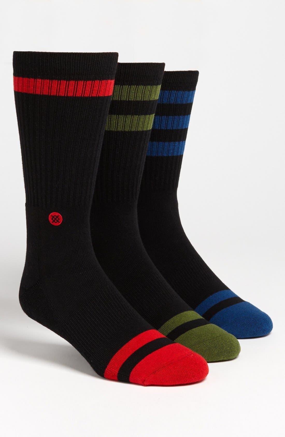 Main Image - Stance 'Triple Threat' Crew Socks (Set of 3)