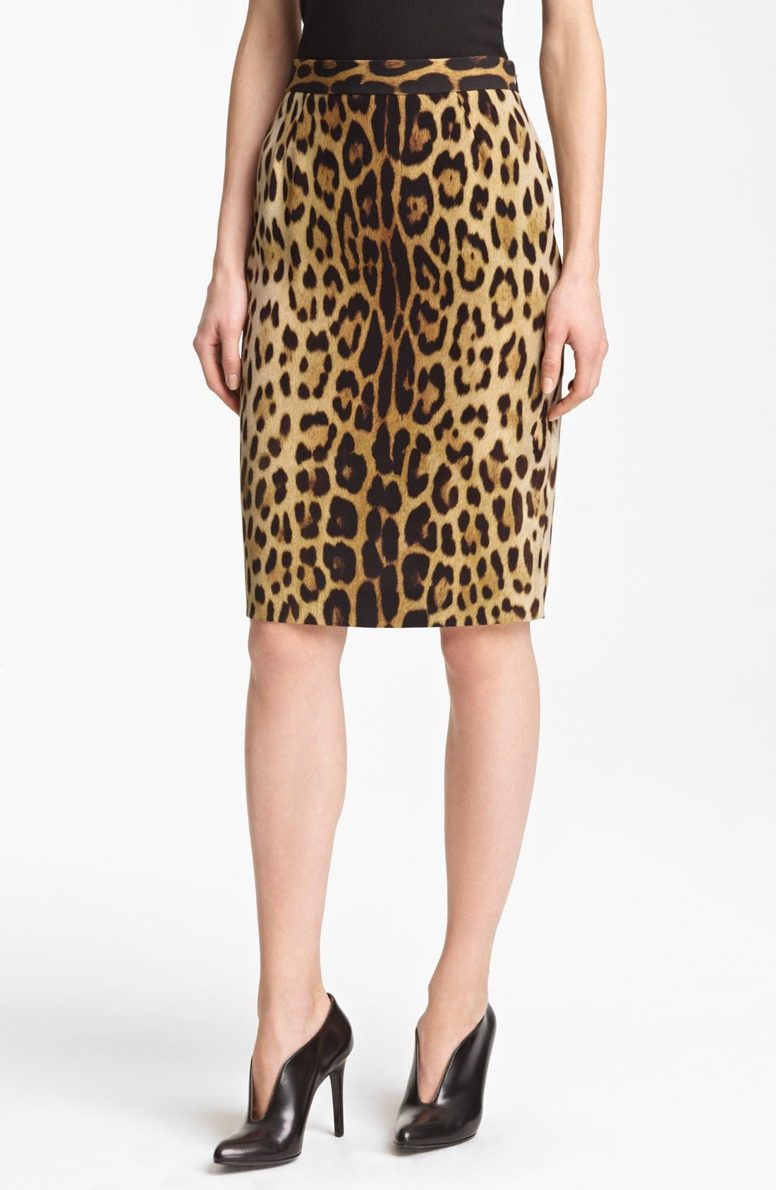 Main Image - Moschino Cheap & Chic Leopard Print Pencil Skirt