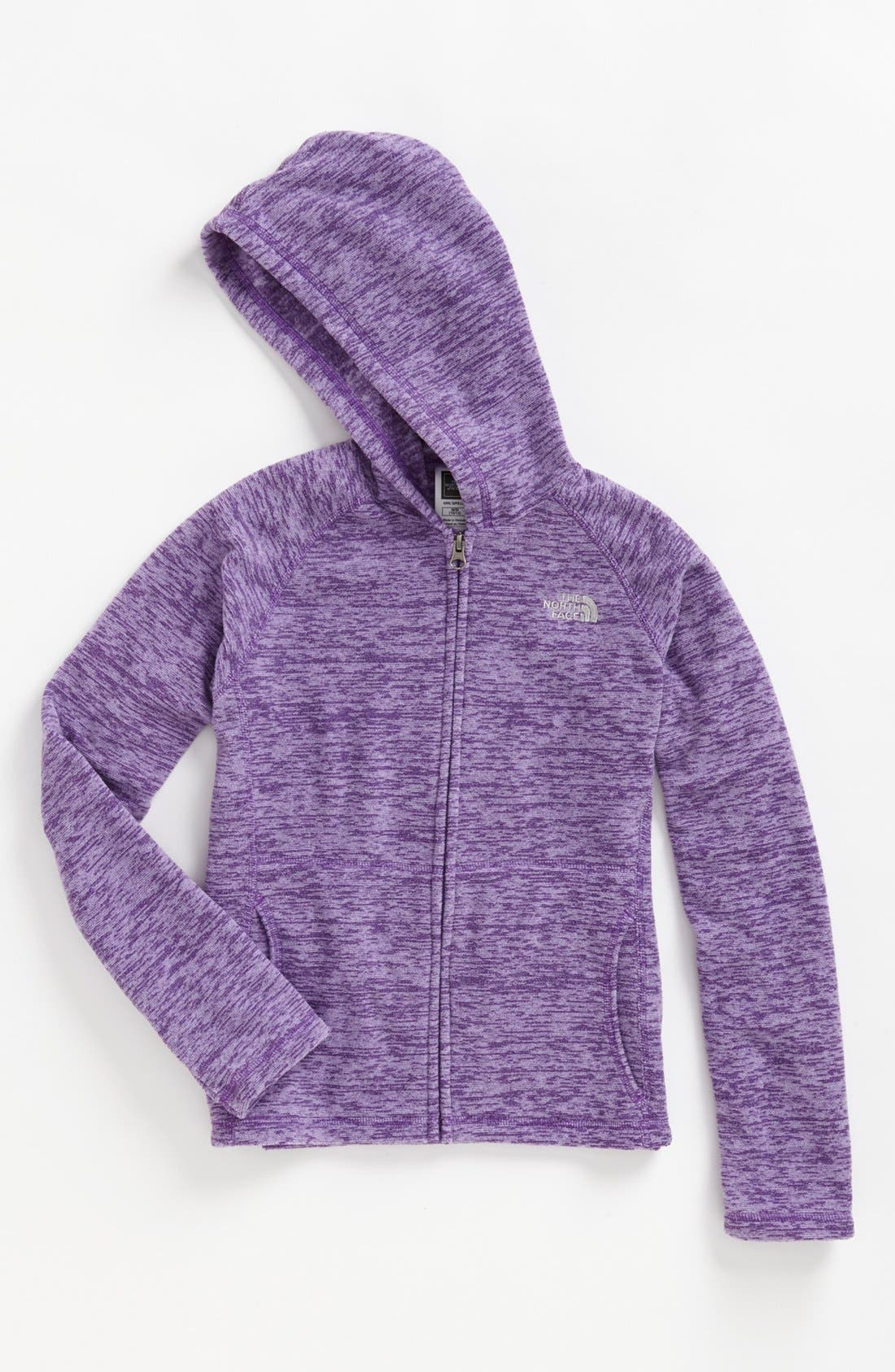 Alternate Image 1 Selected - The North Face 'Glacier' Fleece Hoodie (Little Girls & Big Girls)