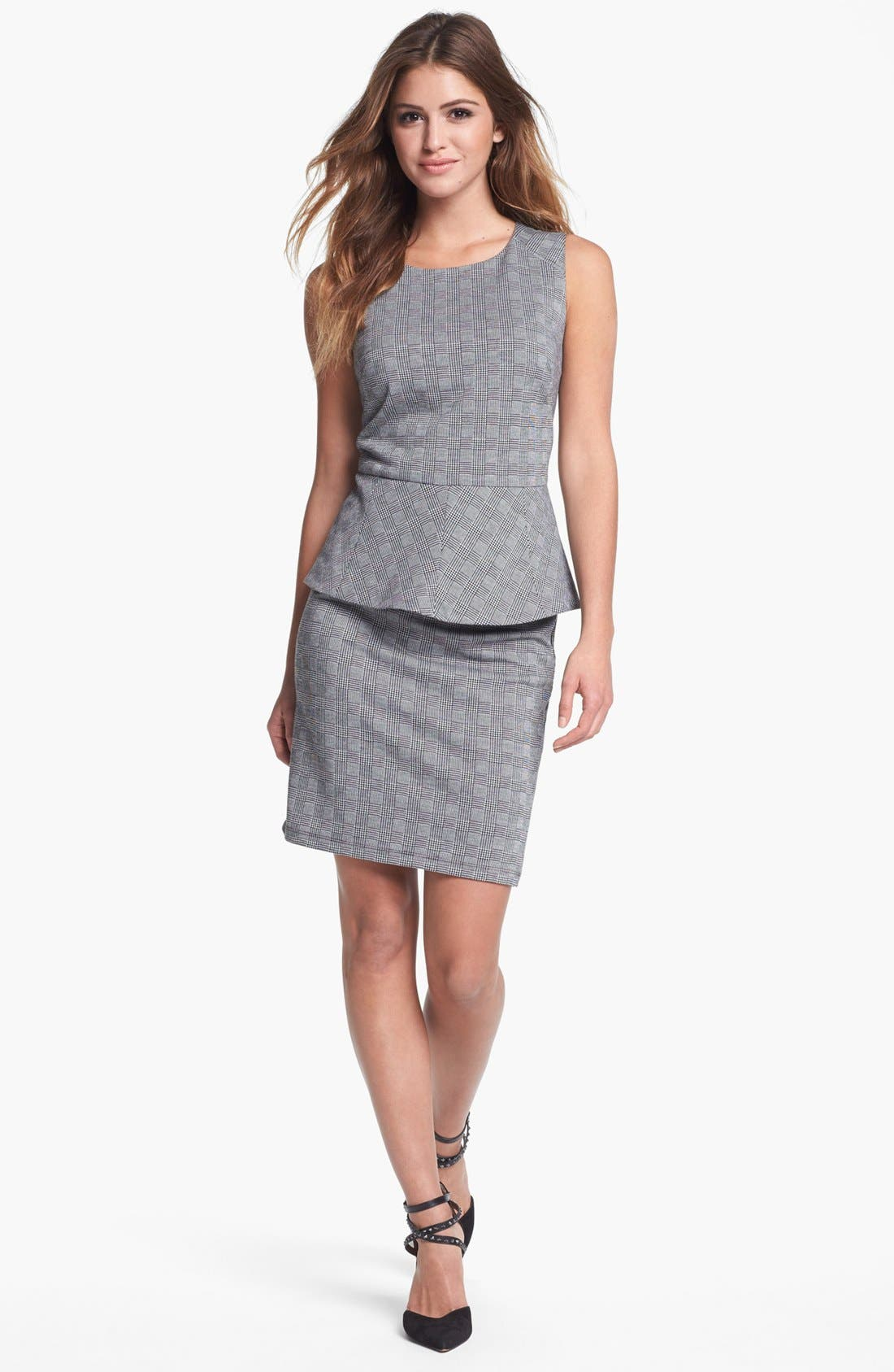 Alternate Image 2  - Vince Camuto Glen Plaid Peplum Top (Nordstrom Exclusive)