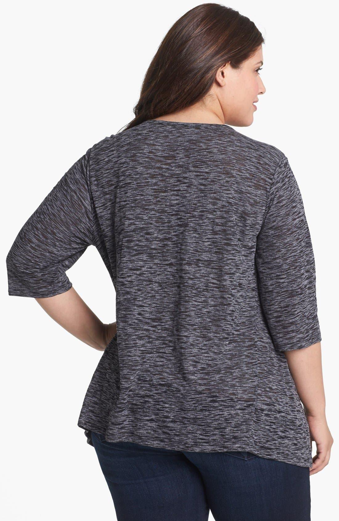 Alternate Image 2  - Sejour Slubbed Jersey Top (Plus Size)