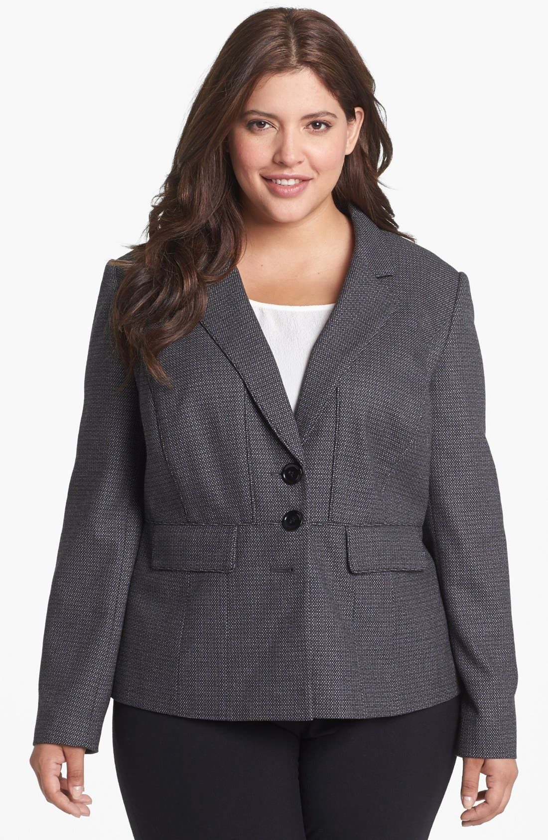 Main Image - Sejour Microdot Jacket (Plus Size)