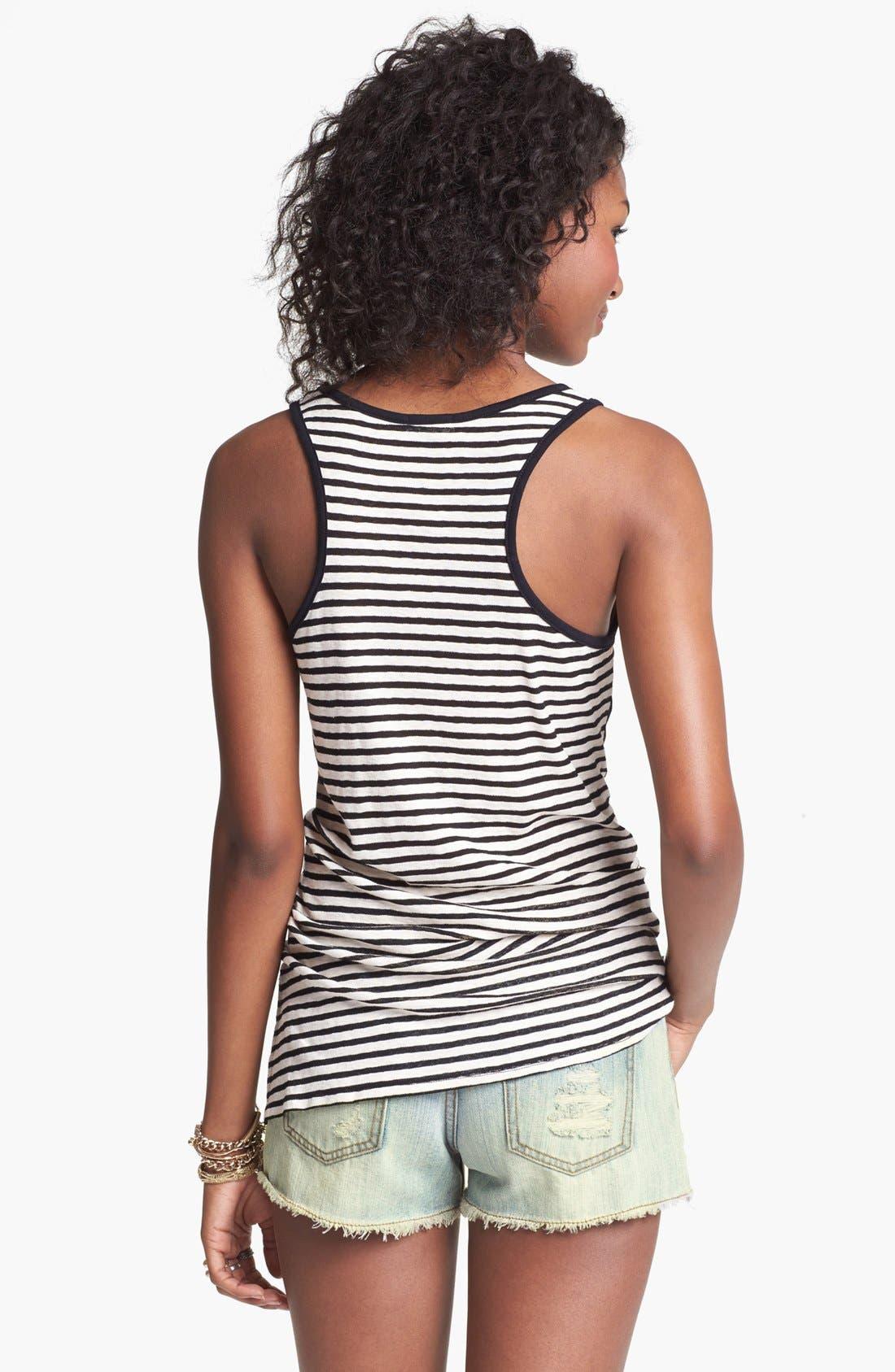 Alternate Image 2  - Blu Pepper Studded Denim Shorts (Juniors) (Online Only)