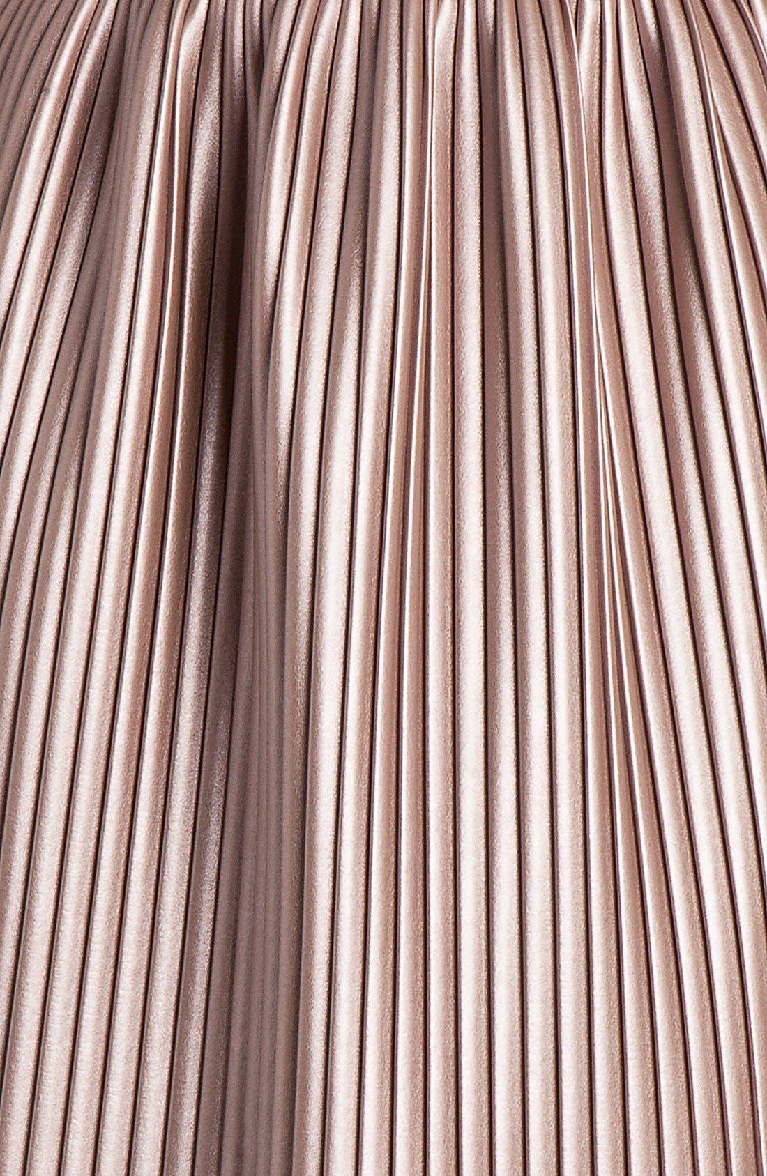 Alternate Image 2  - MSGM Pleated Faux Leather Skirt