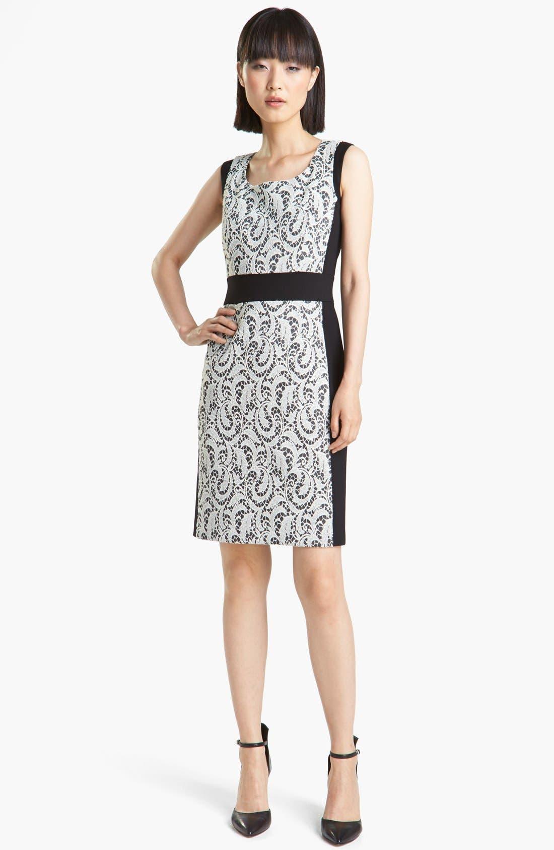 Alternate Image 1 Selected - Lafayette 148 New York 'Ansel - Chantilly Jacquard' Dress