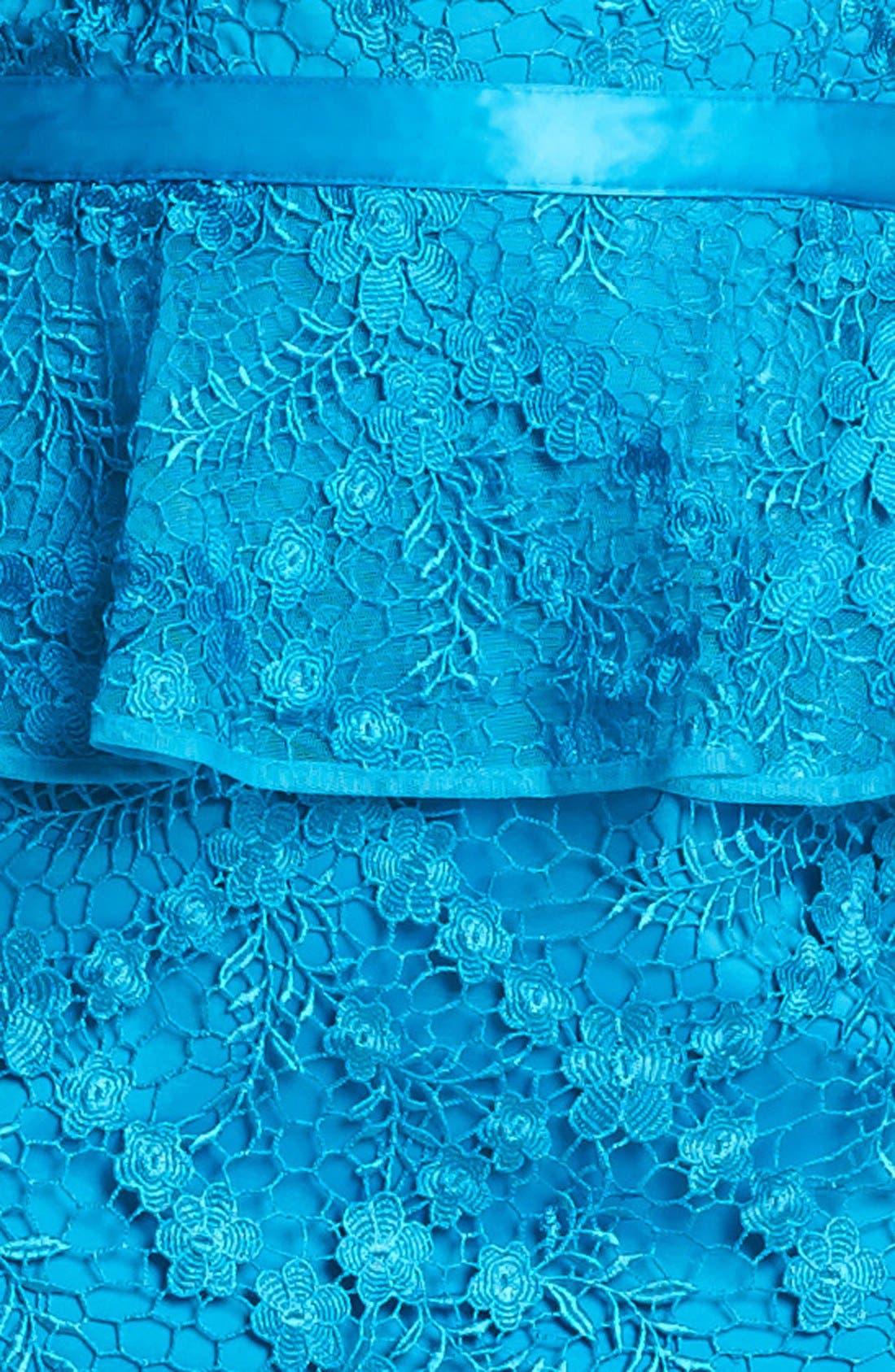 Alternate Image 3  - Aidan Mattox Lace Peplum Dress (Online Only)