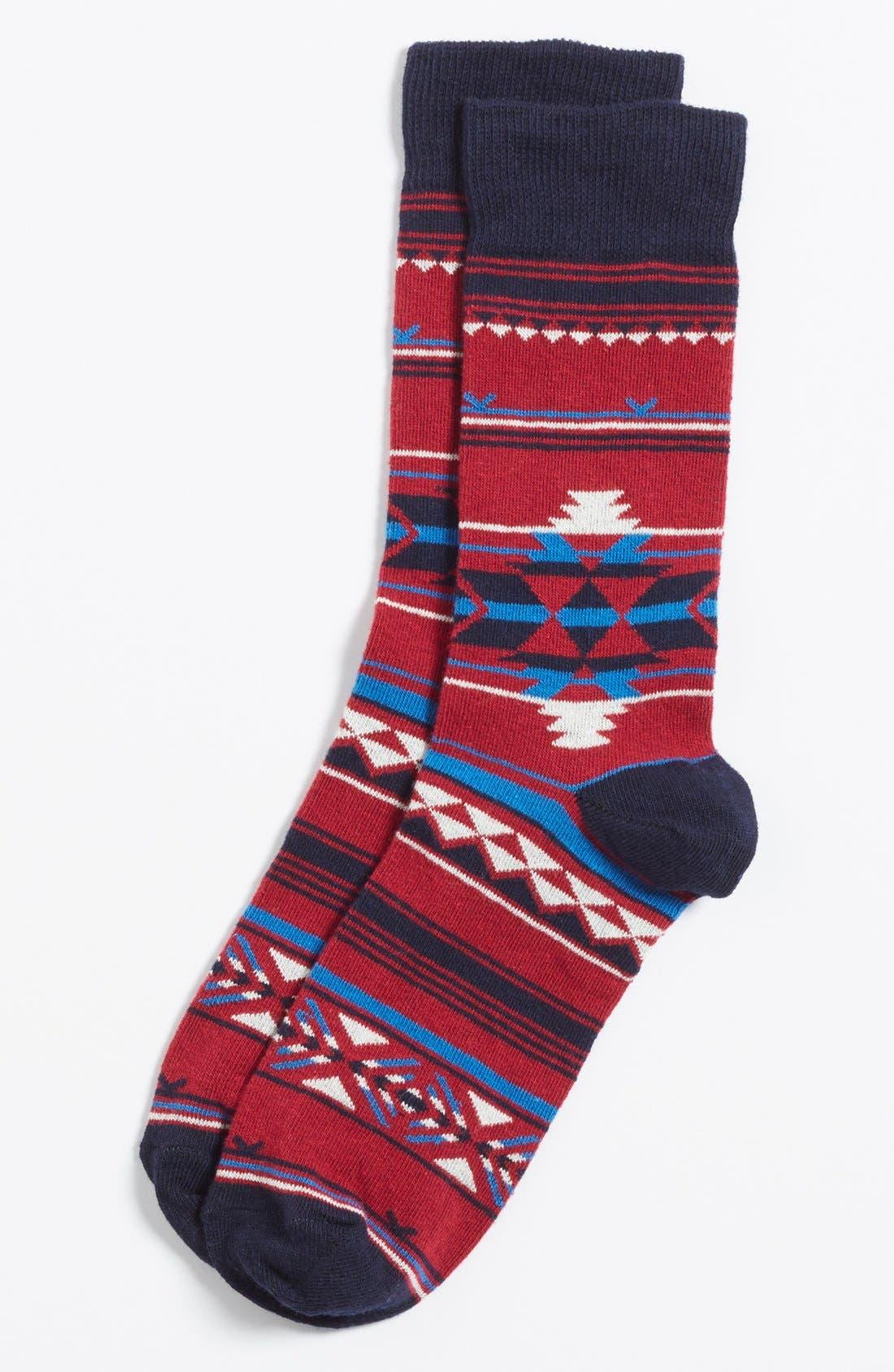 Alternate Image 1 Selected - Topman Geometric Pattern Socks