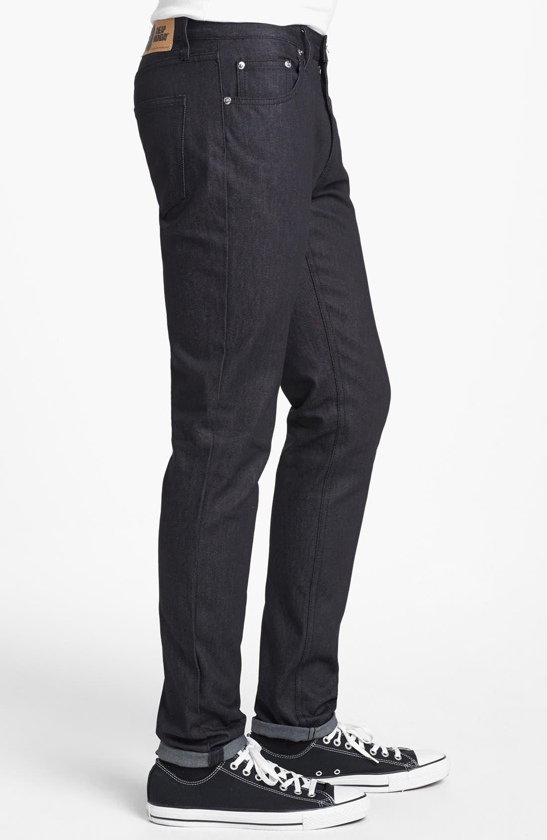 Alternate Image 3  - Cheap Monday 'Four' Slim Straight Leg Jeans (Dry Black)