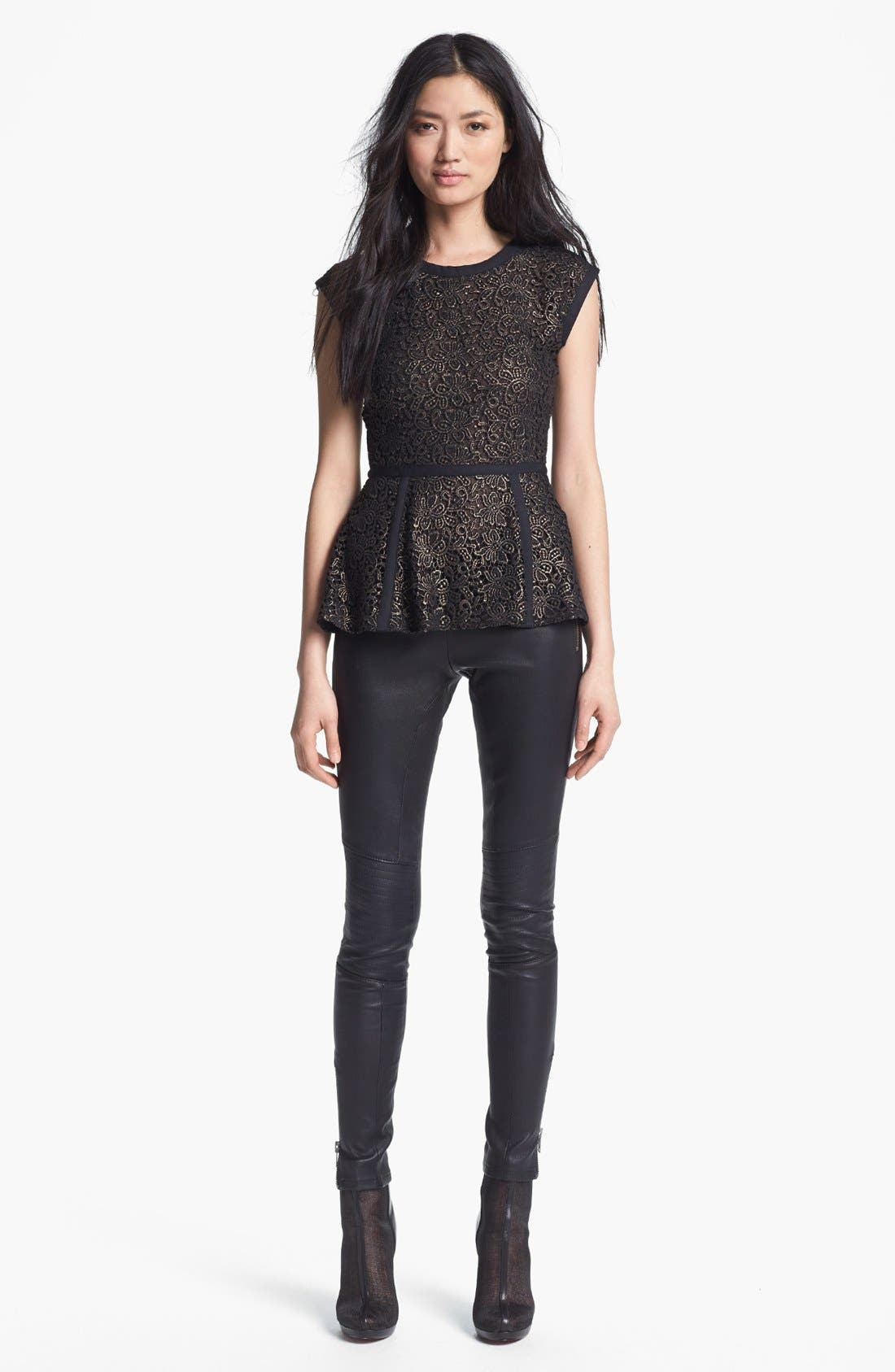 Alternate Image 3  - Rachel Zoe 'Maxine' Skinny Stretch Leather Pants