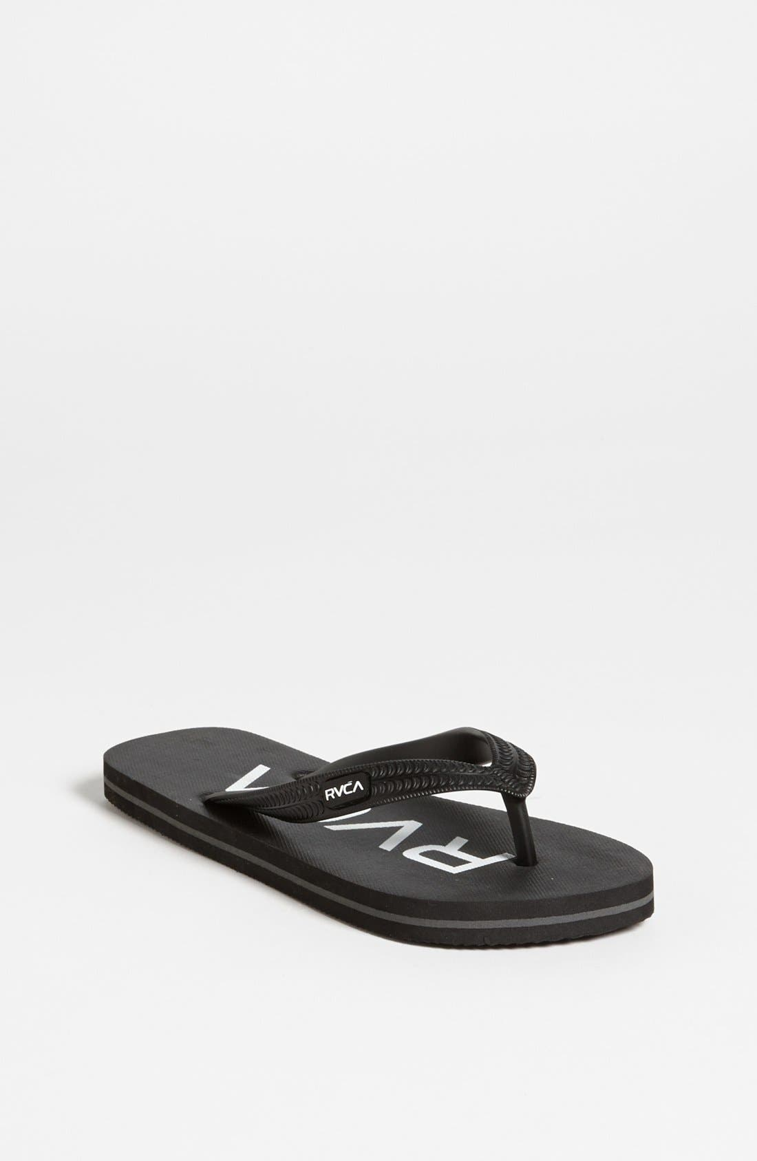 Alternate Image 1 Selected - RVCA 'Sandlot' Flip Flop (Little Boys & Big Boys)