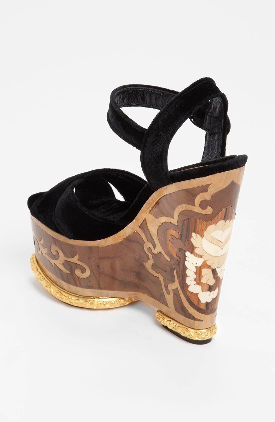 Alternate Image 2  - Dolce&Gabbana Wedge Sandal