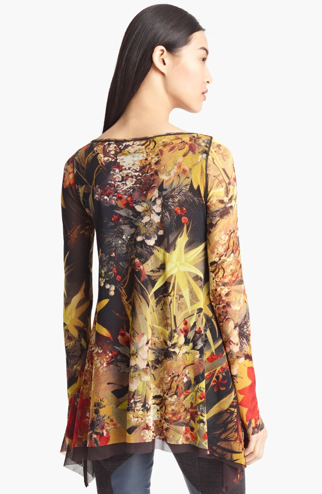 Alternate Image 2  - Jean Paul Gaultier Fuzzi Floral Print Tulle Tunic