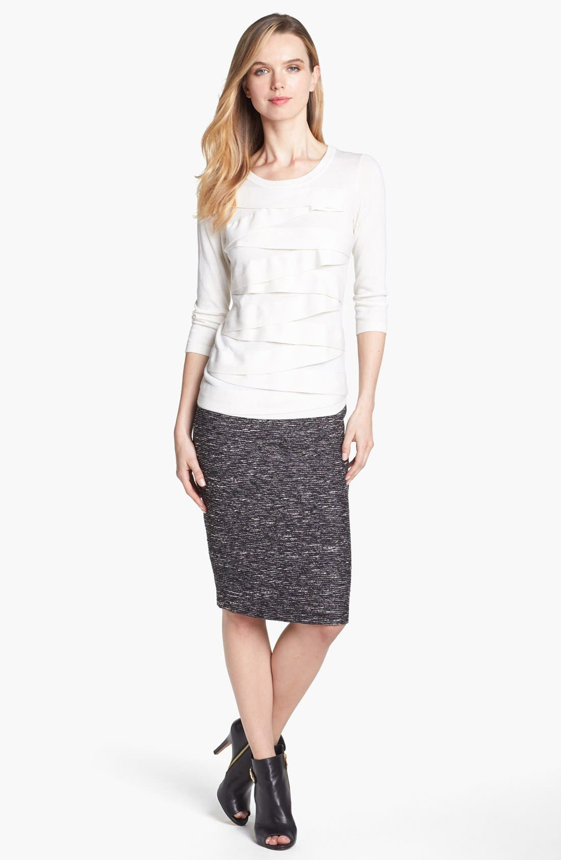 Alternate Image 5  - Vince Camuto Metallic Tweed Pencil Skirt
