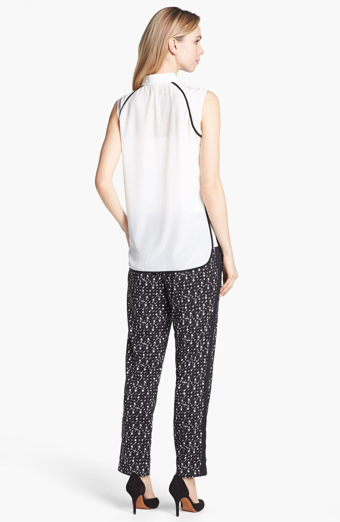 Alternate Image 4  - Vince Camuto Pleated Tuxedo Stripe Print Pants