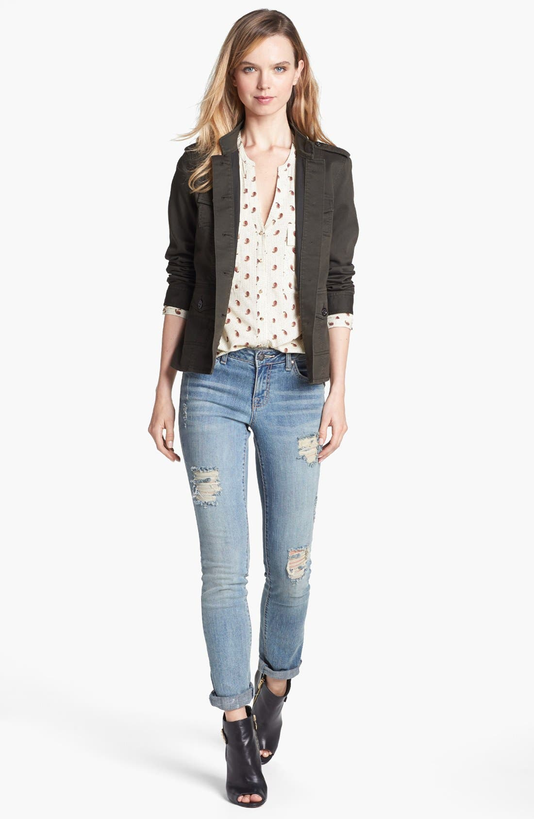 Alternate Image 4  - Two by Vince Camuto Paisley Print Utility Shirt