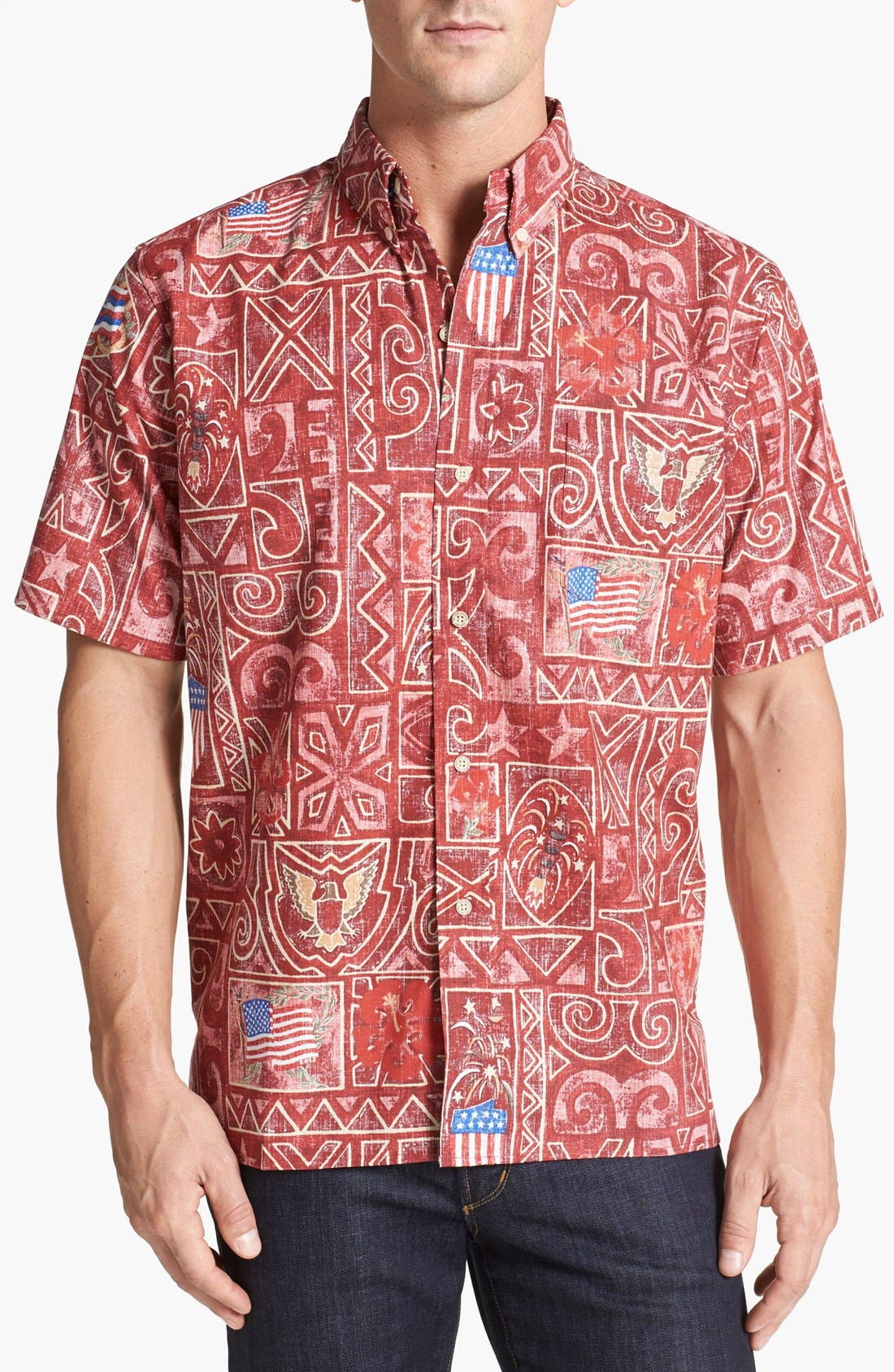 Alternate Image 1 Selected - Reyn Spooner 'Summer Commemorative - 2013' Short Sleeve Sport Shirt