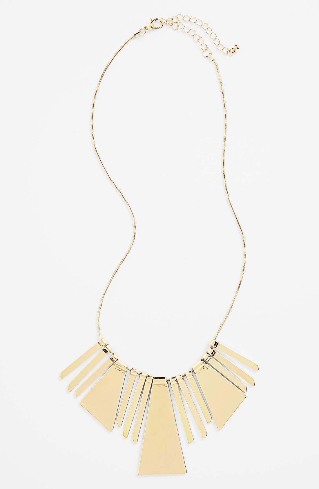 Main Image - BP. Pieced Metal Bib Necklace (Juniors)