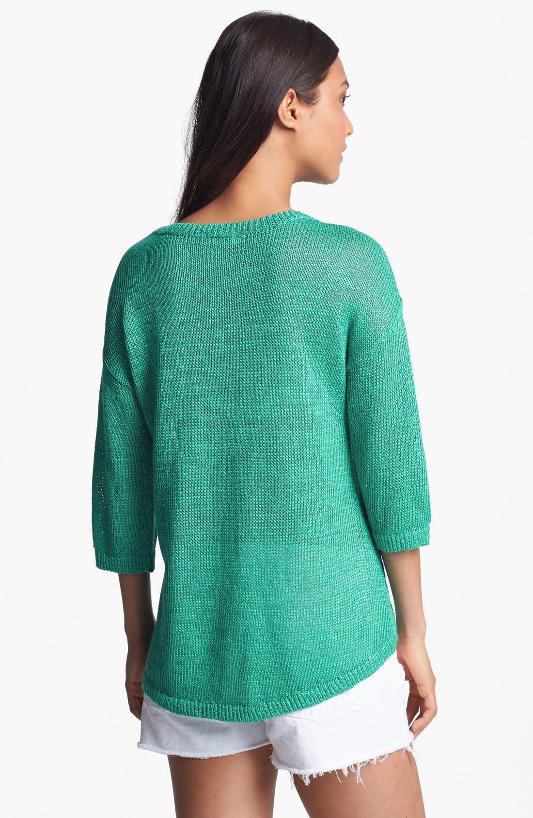 Alternate Image 2  - Hinge® Drop Stitch Sweater