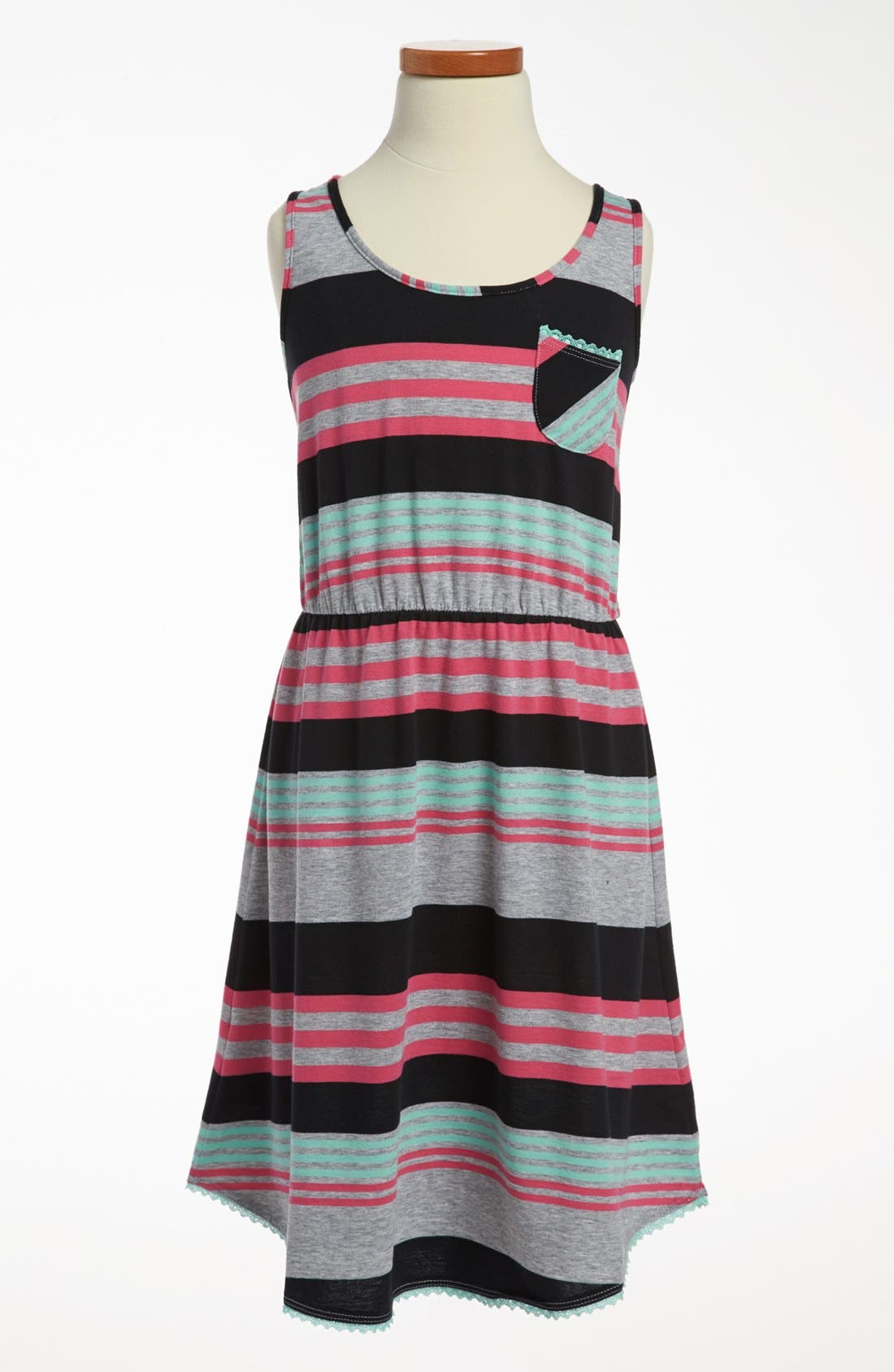 Alternate Image 1 Selected - 'Wave Break' Knit Dress (Big Girls)