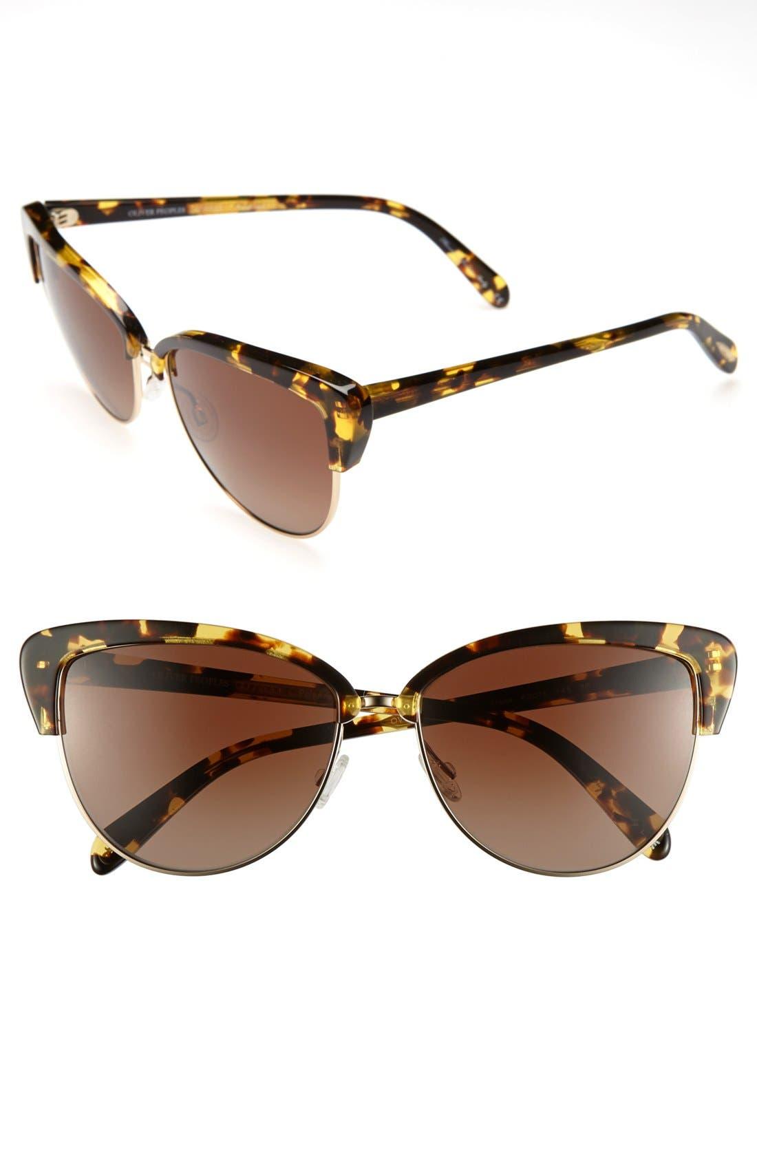 Alternate Image 1 Selected - Oliver Peoples 'Alisha' 60mm Polarized Sunglasses