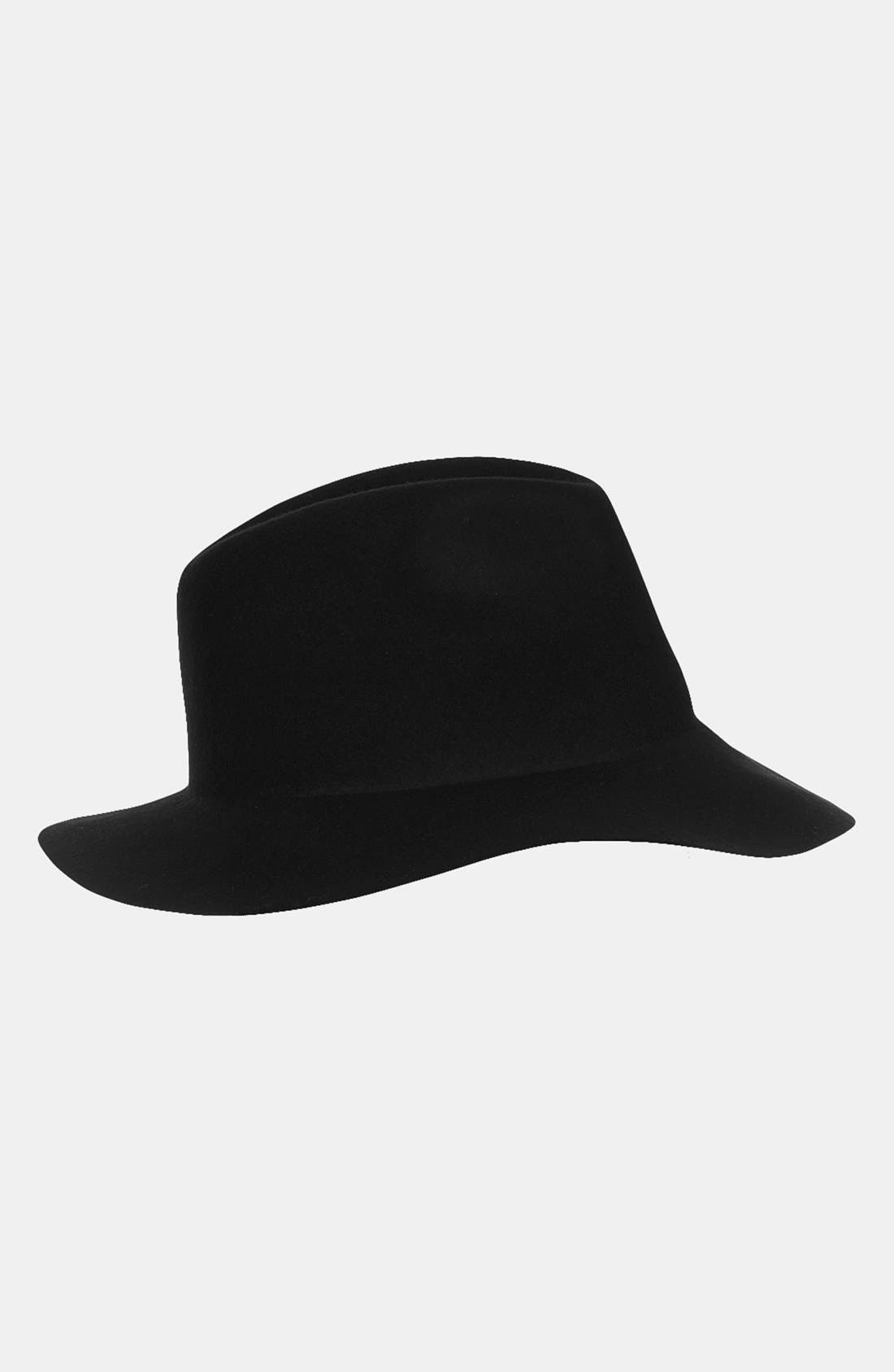 'New Clean Edge' Fedora,                             Main thumbnail 1, color,                             Black