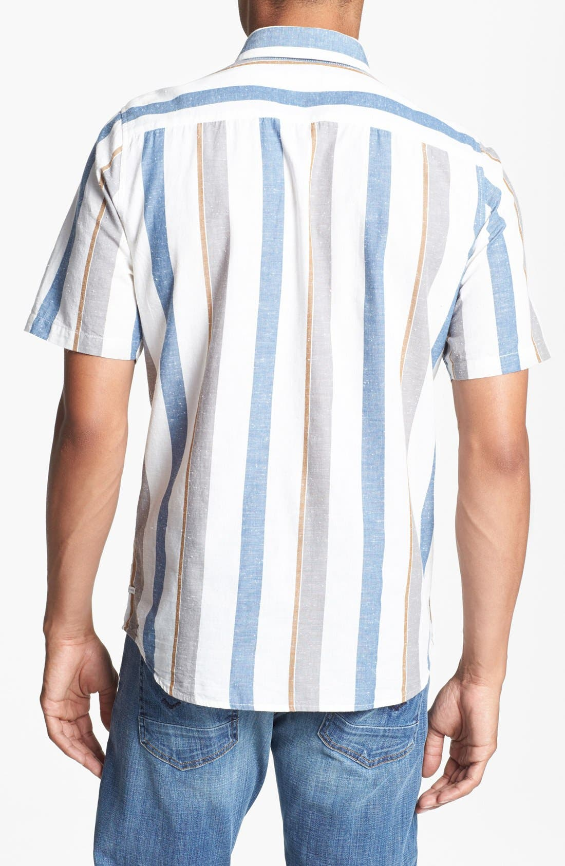 Alternate Image 3  - Volcom 'Memento' Stripe Print Woven Shirt