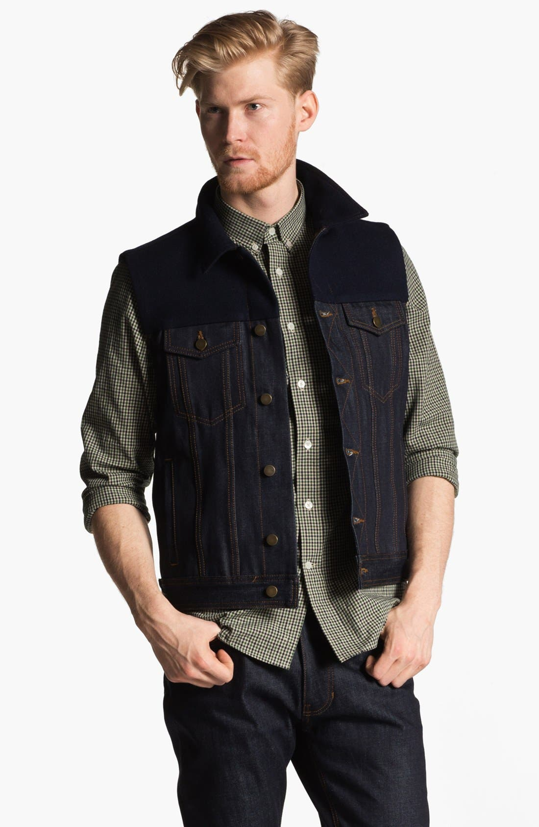 Alternate Image 1 Selected - AMI Alexandre Mattiussi Denim Vest
