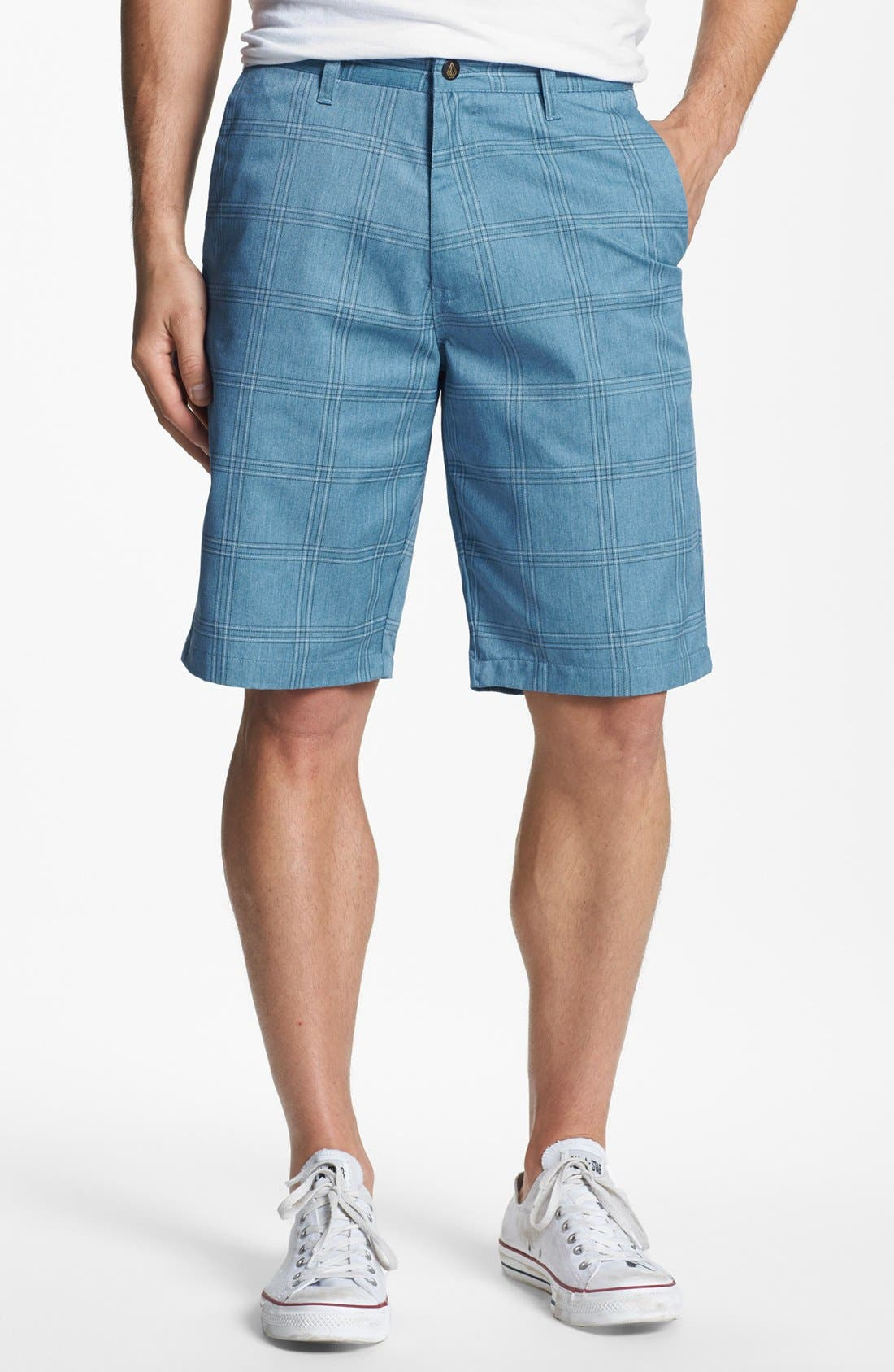 Alternate Image 1 Selected - Volcom Modern Plaid Shorts