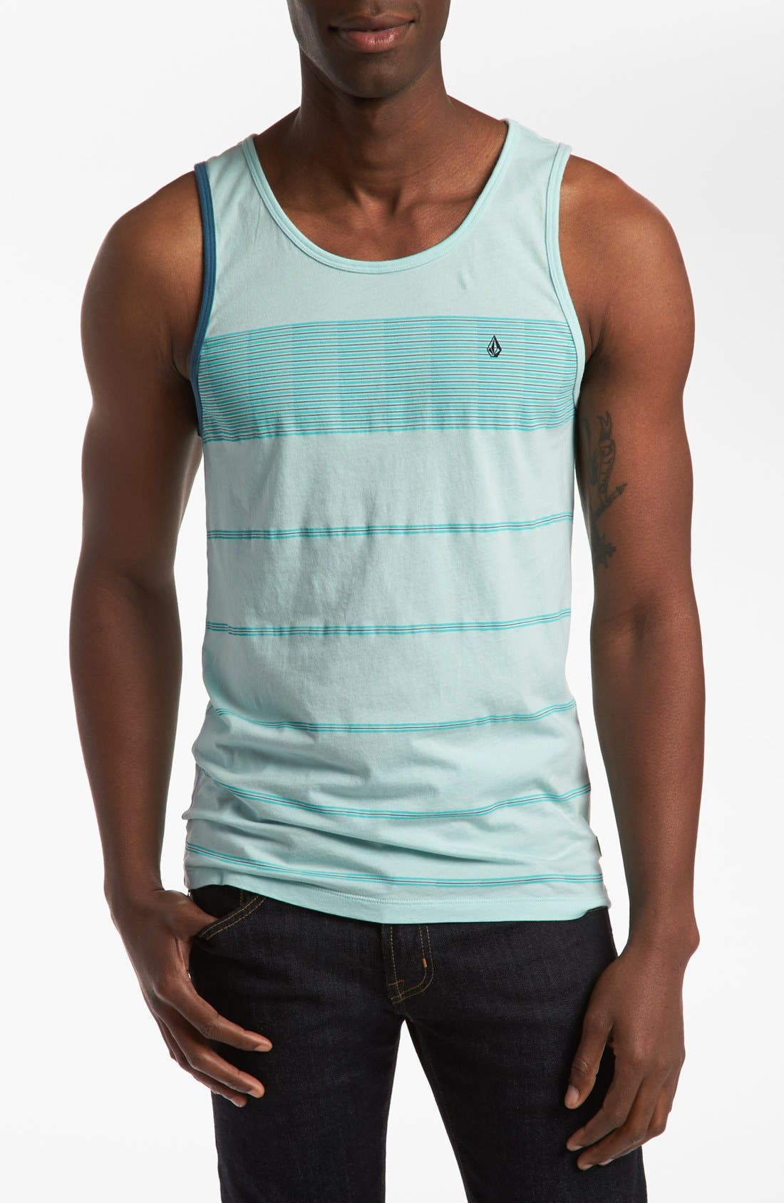 Alternate Image 1 Selected - Volcom 'Blackout Stripe' Classic Fit Tank Top
