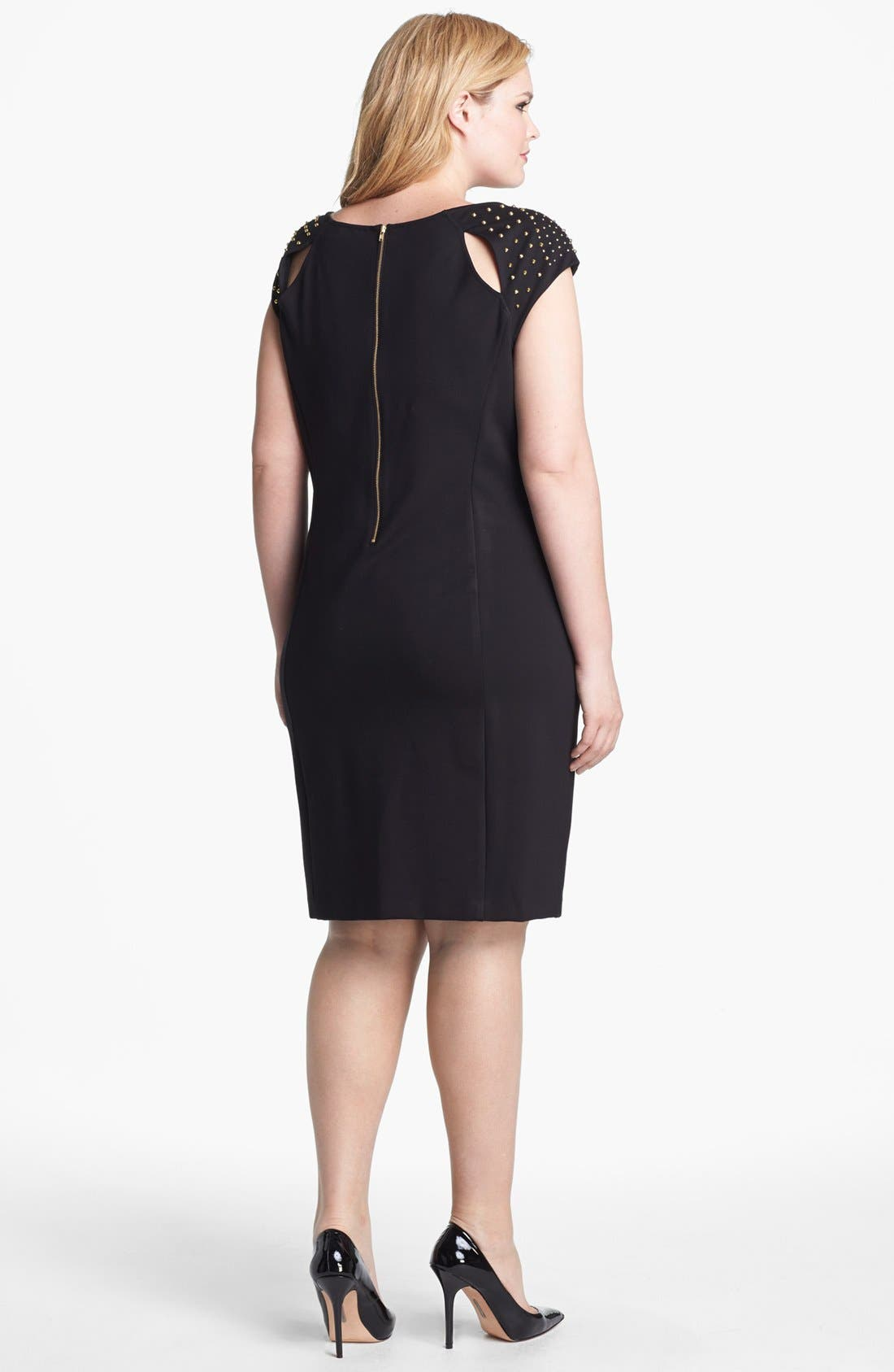 Alternate Image 2  - ABS by Allen Schwartz Studded Sheath Dress (Plus Size)