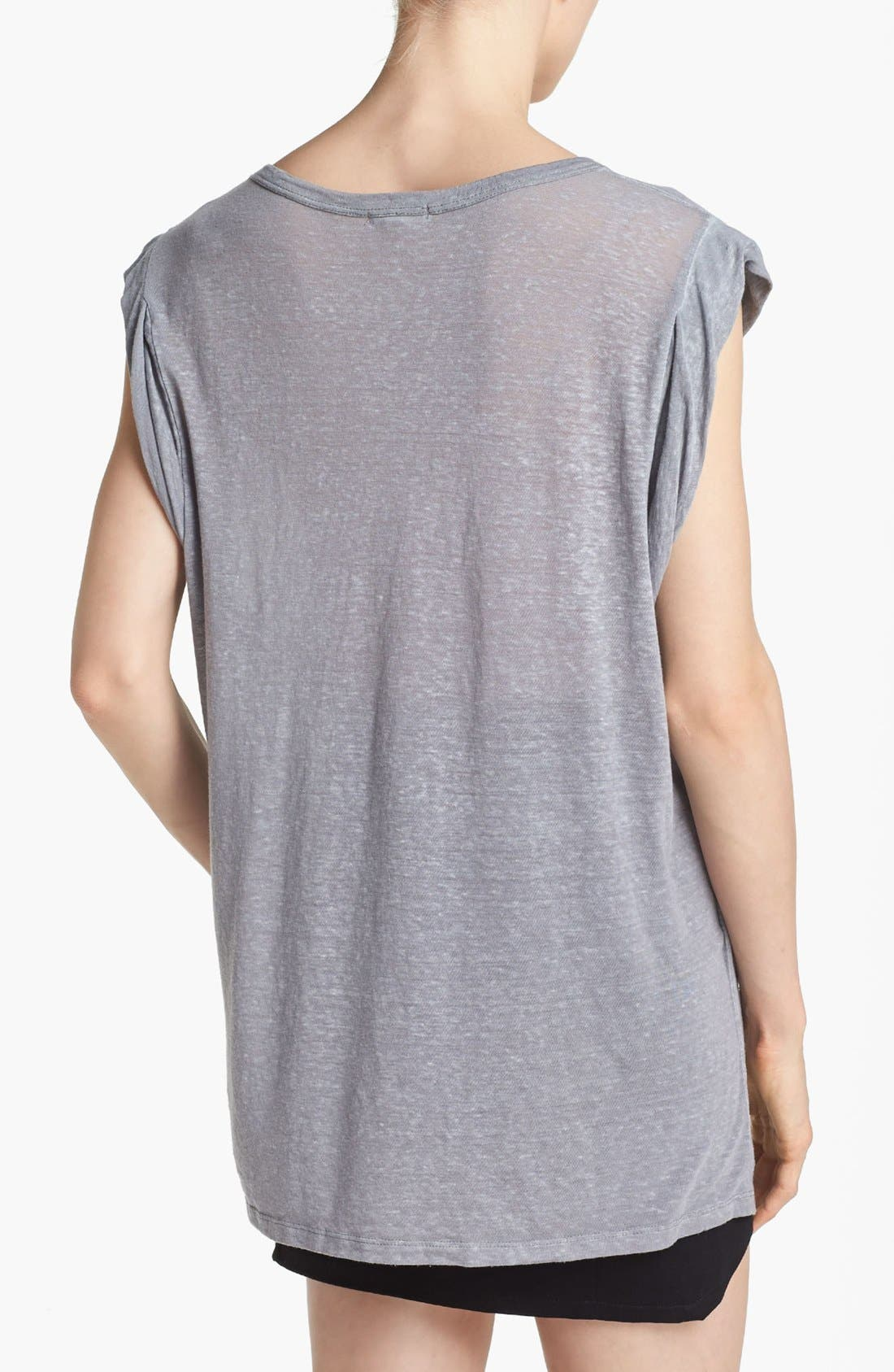 Alternate Image 2  - Leith Roll Sleeve Off Shoulder Tee