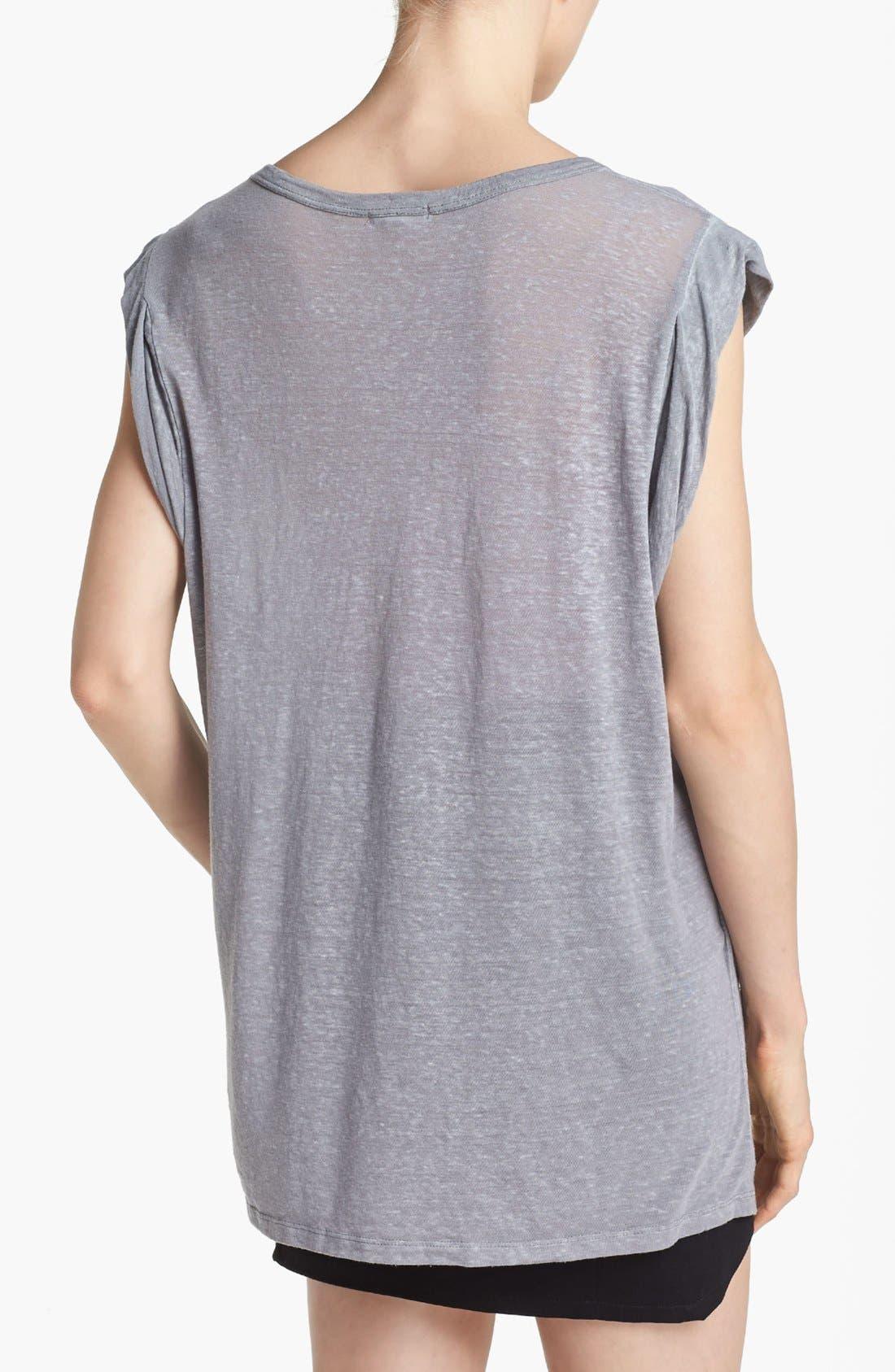 Alternate Image 2  - Leith Roll Sleeve Off Shoulder Tee