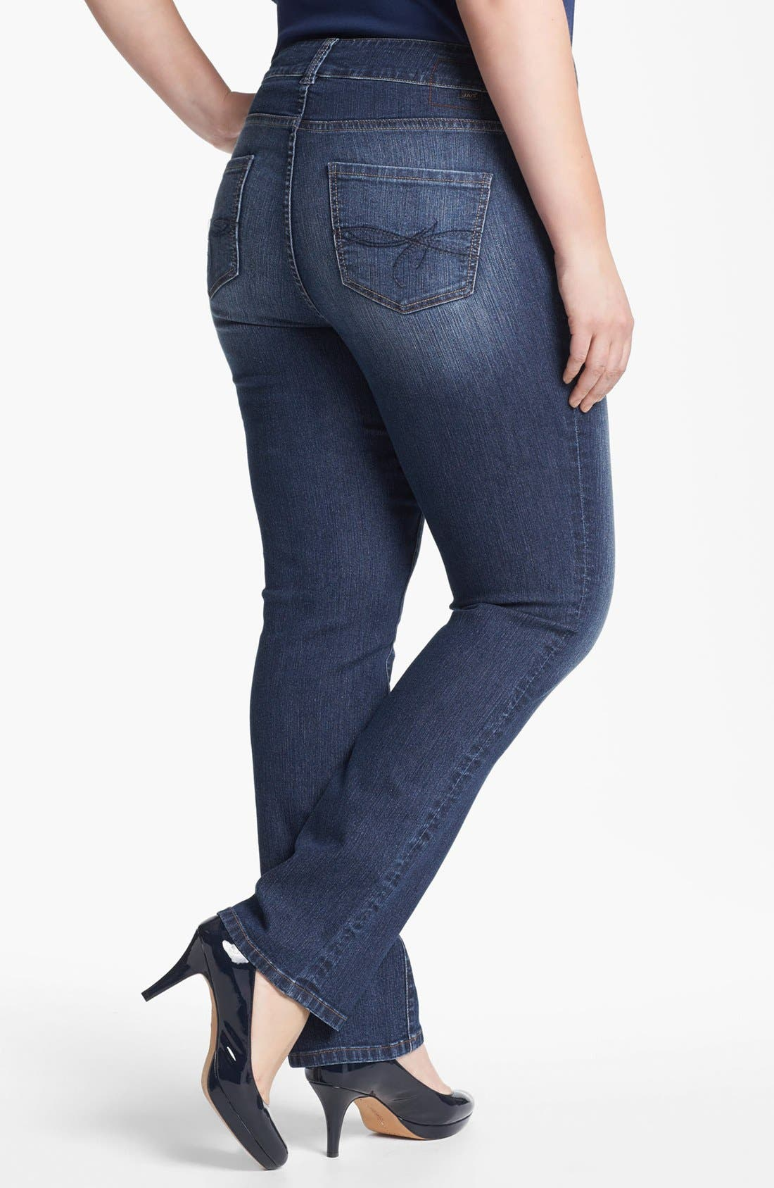 Alternate Image 2  - Jag Jeans 'Andie' Straight Leg Jeans (Plus Size)