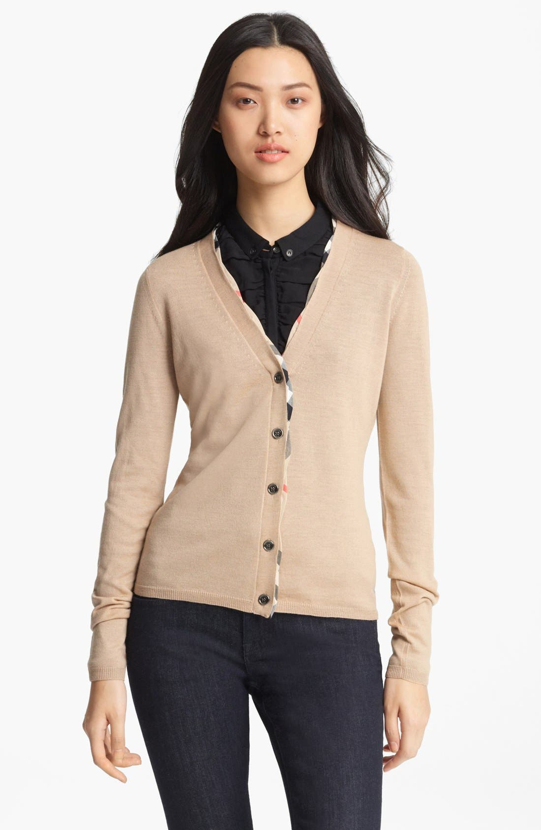 Main Image - Burberry Brit V-Neck Cardigan