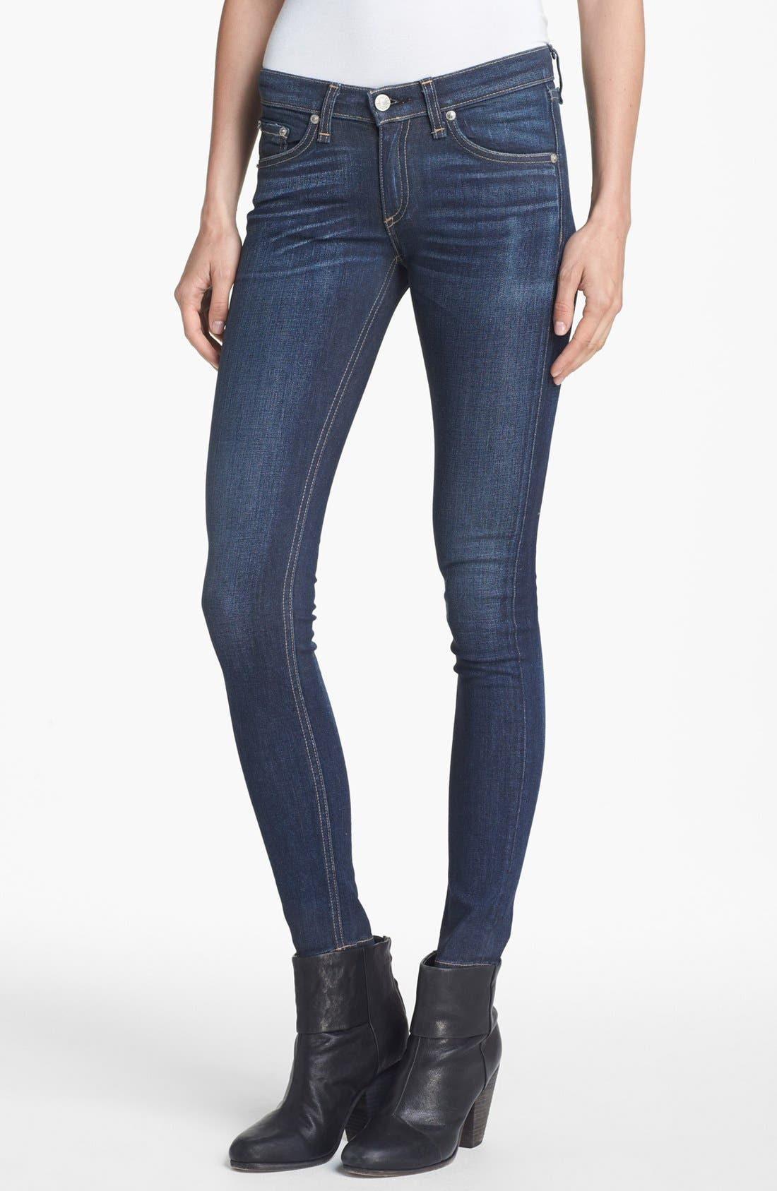 Alternate Image 1 Selected - rag & bone/JEAN Skinny Stretch Jeans (Clean Charing)